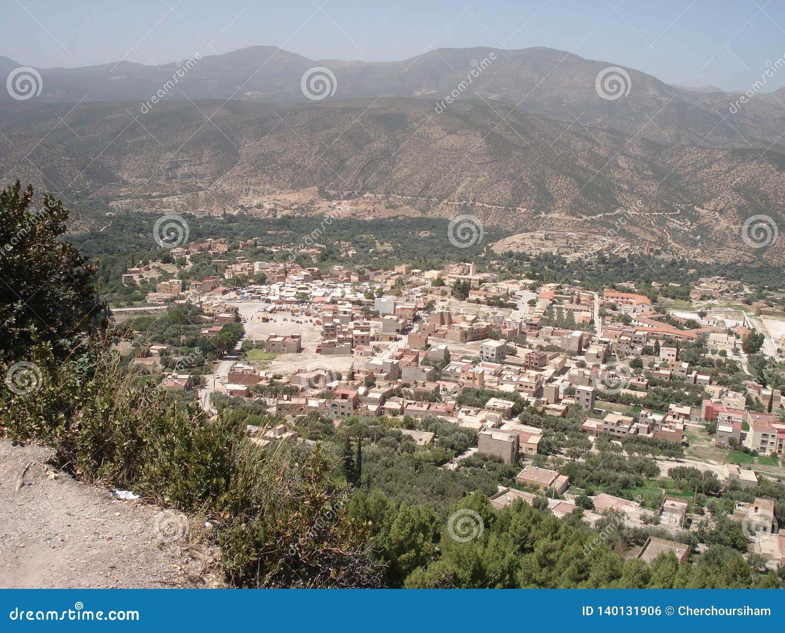 Πανοραμική άποψη Skoura, Sefrou Μαρόκο