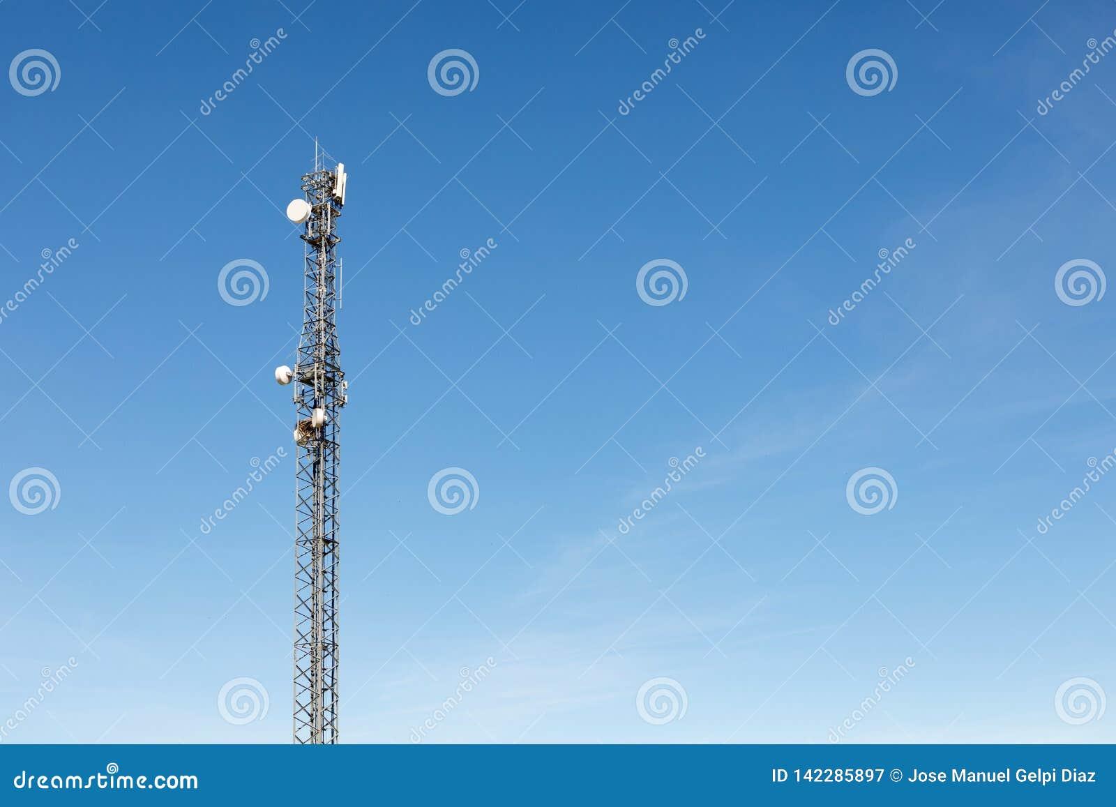Πύργος κεραιών για την επικοινωνία