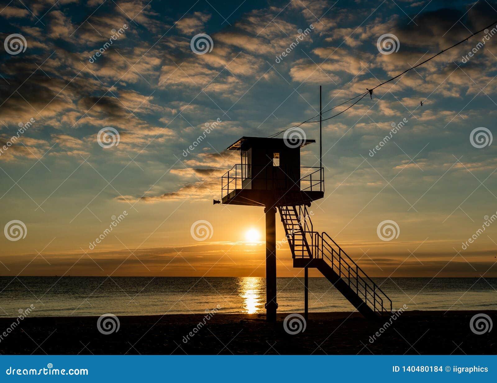 Πύργος διάσωσης - η θάλασσα της Βαλτικής - νησί Usedom