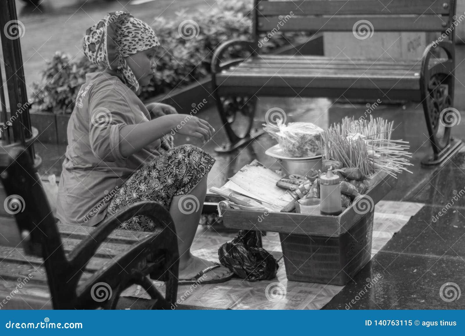 Πωλητής Satay