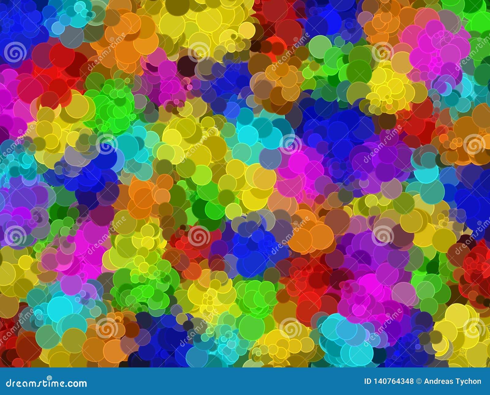 Абстрактная круговая радуга мозаики покрасила предпосылку сети