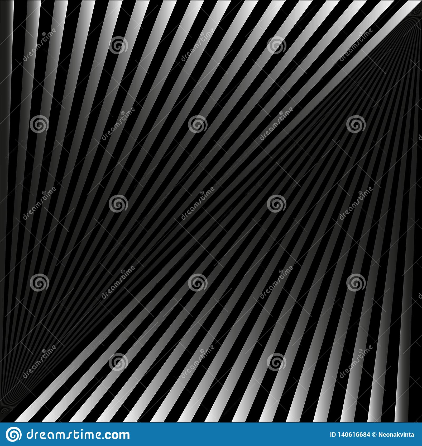 Абстрактная предпосылка в форме серых лучей и нашивок на черноте