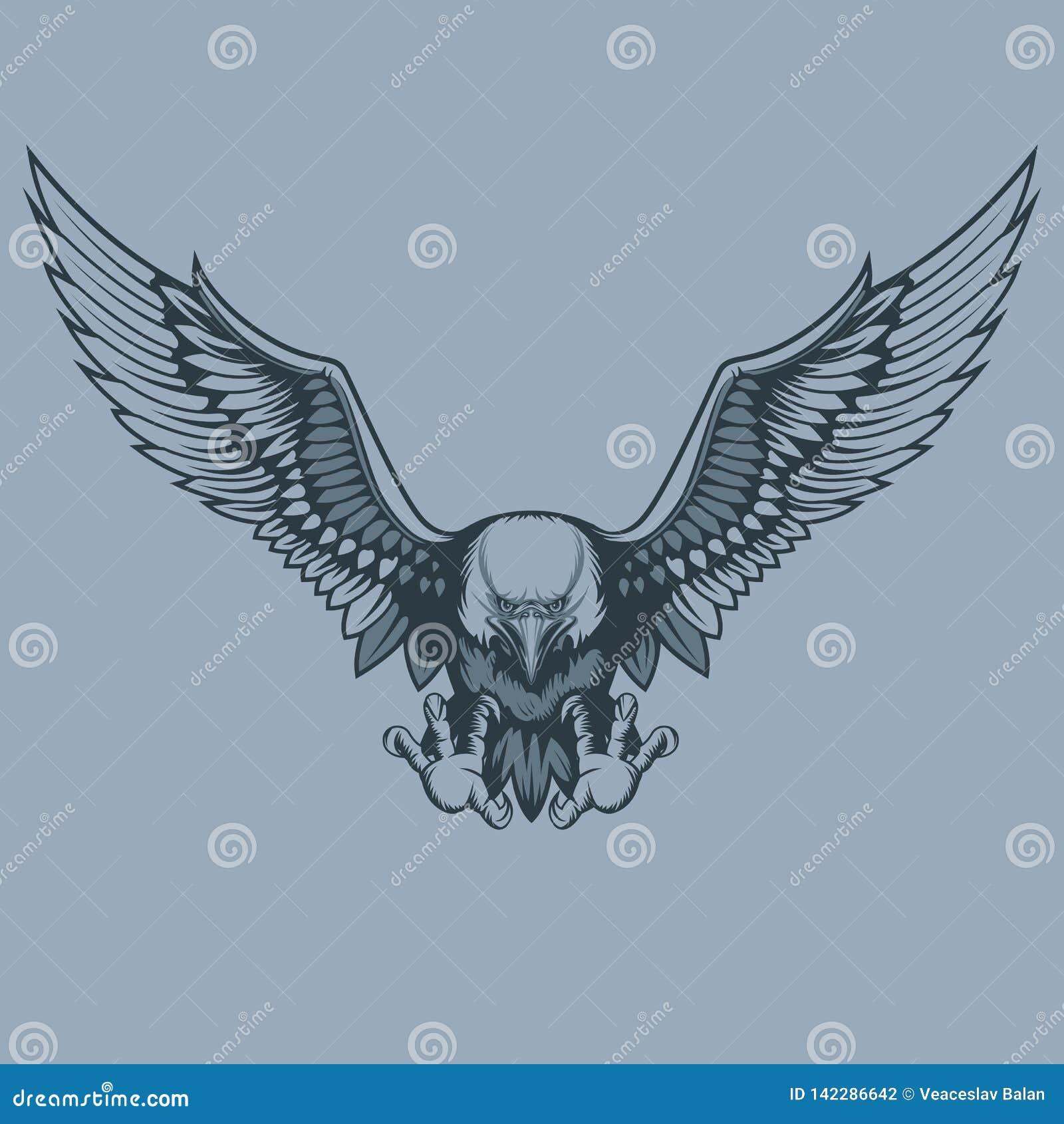 Атакуя орел, стиль татуировки