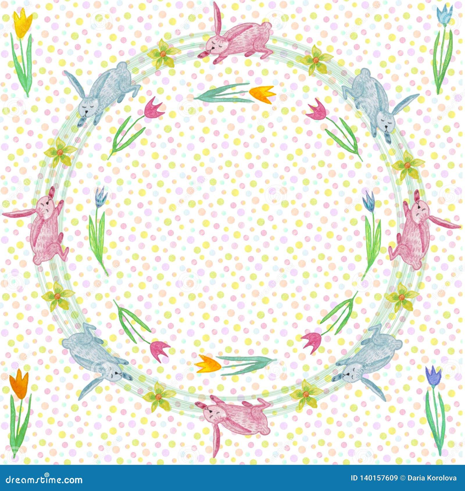 Бесконечная текстура для дизайна весны, украшения, поздравительных открыток