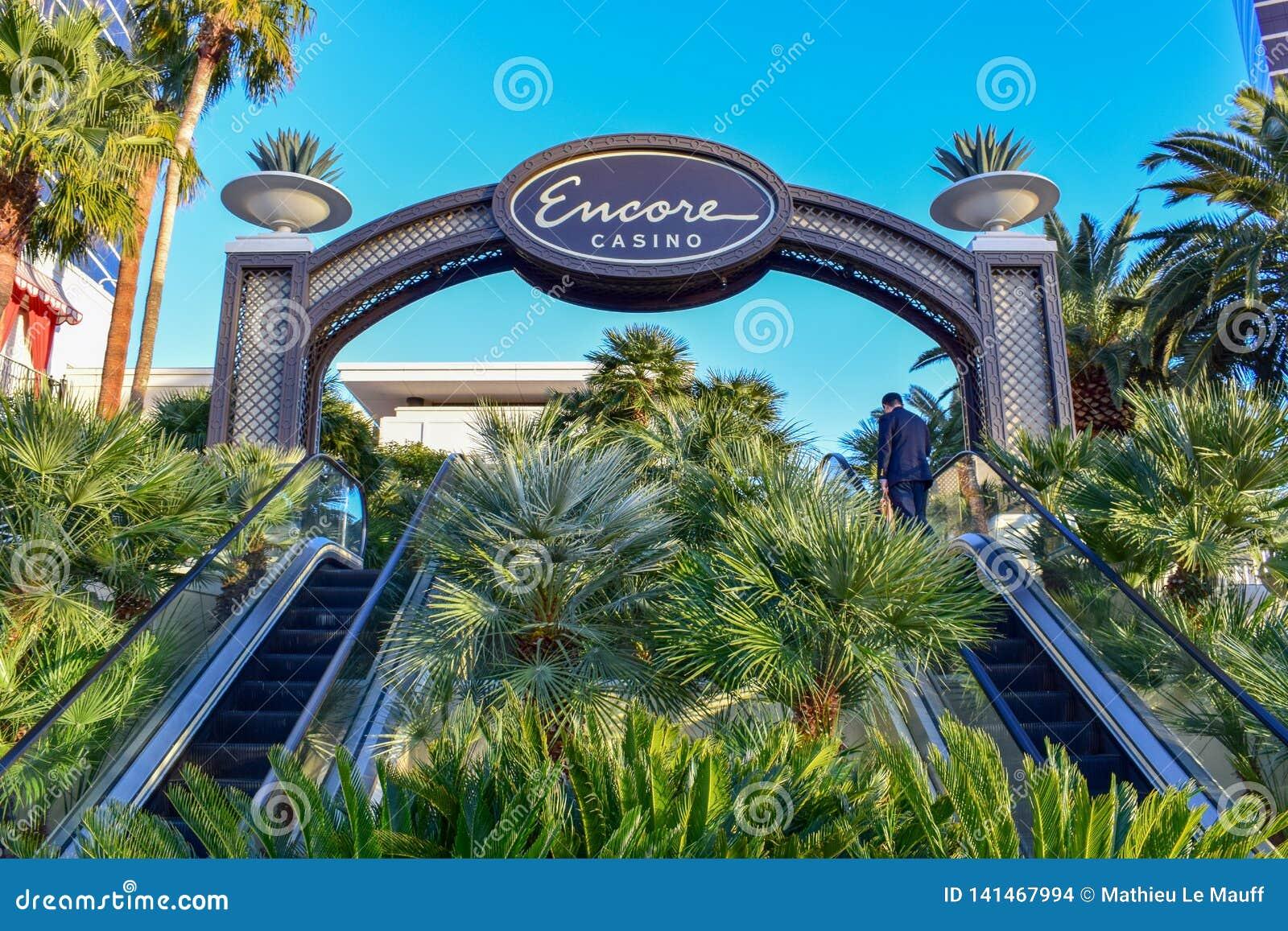 Бис на входе Wynn Лас-Вегас с пальмами