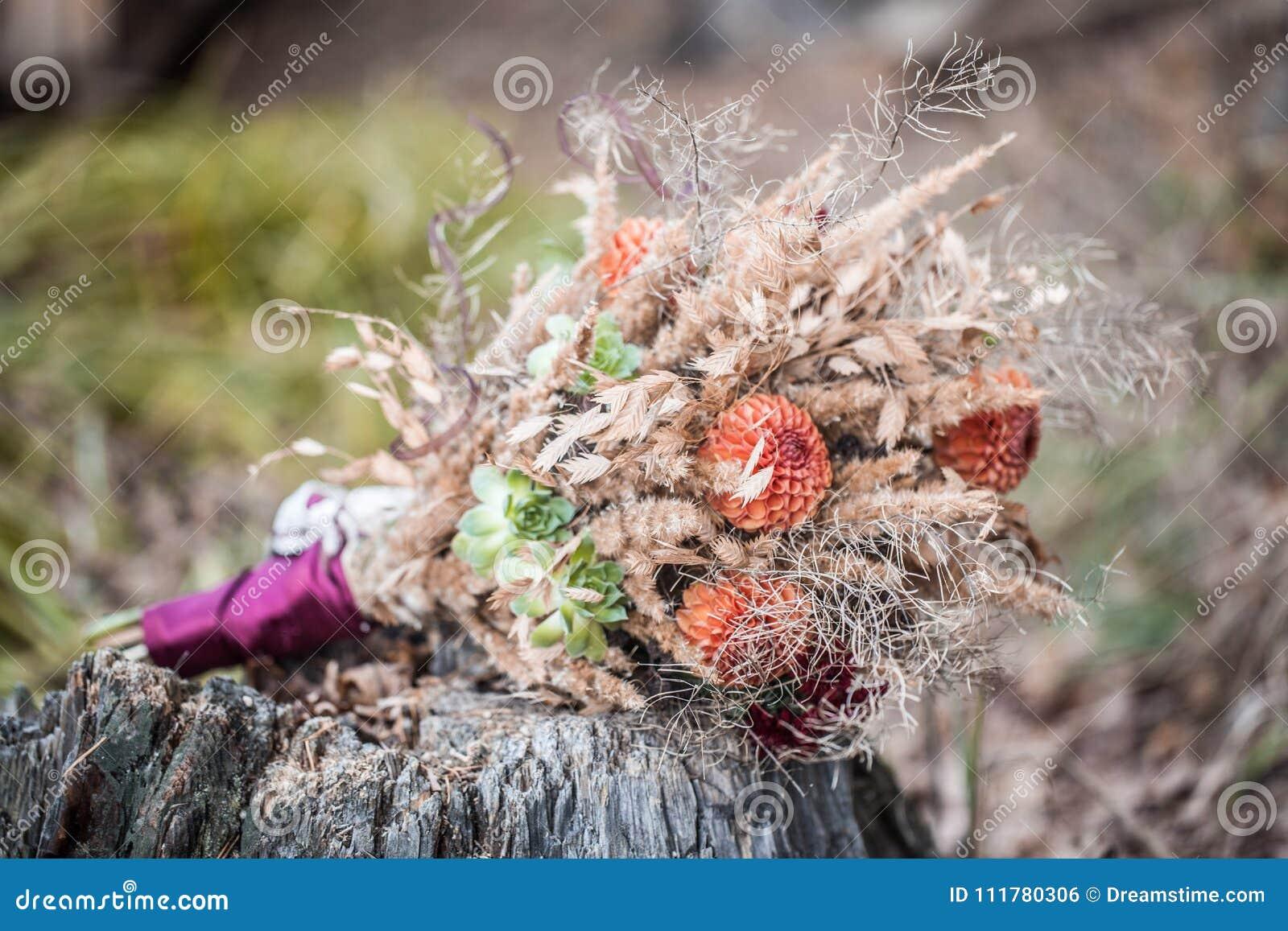 Букет лесных трав и цветов.