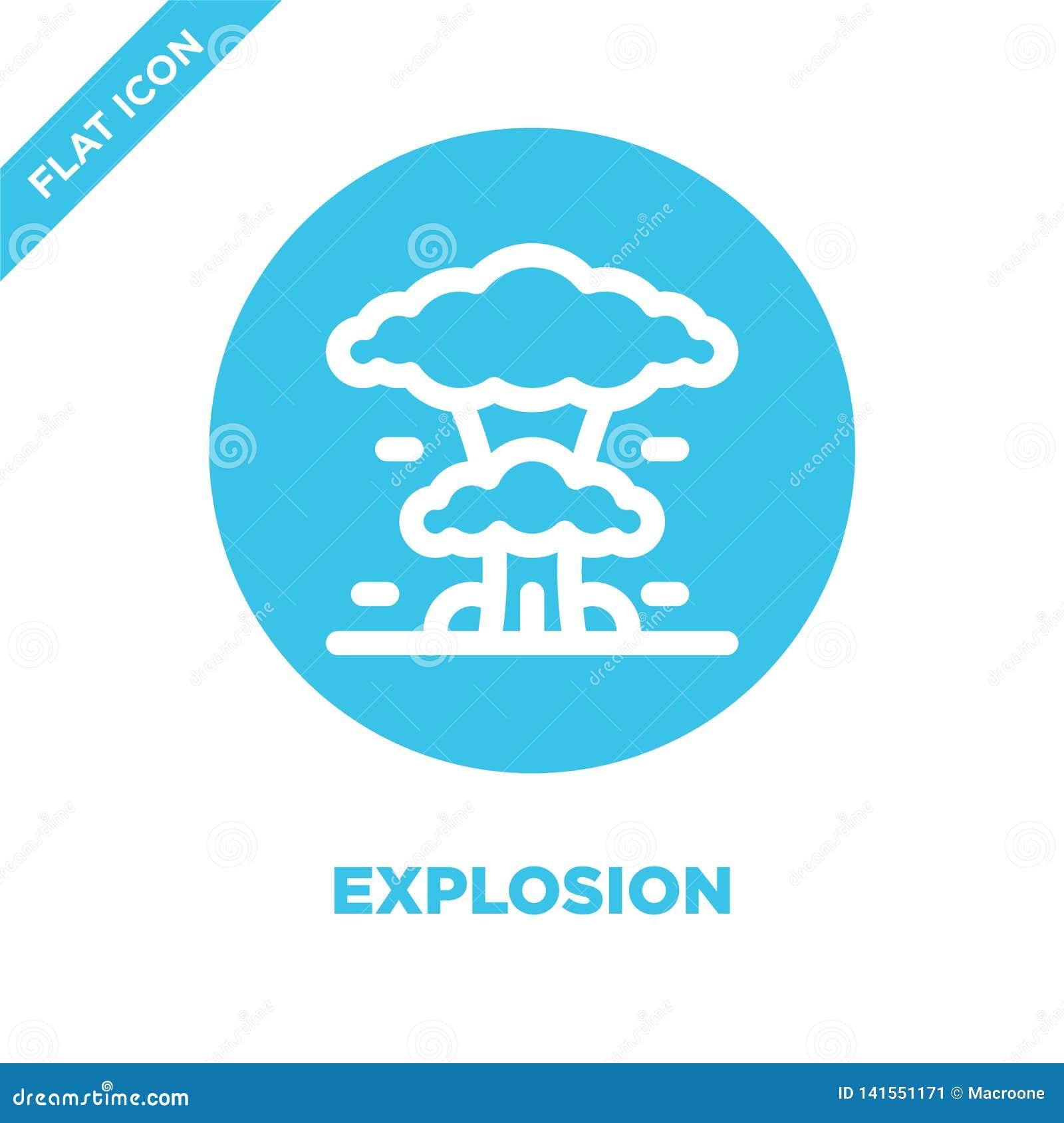 Вектор значка взрыва Тонкая линия иллюстрация вектора значка плана взрыва символ взрыва для пользы на сети и мобильных приложения