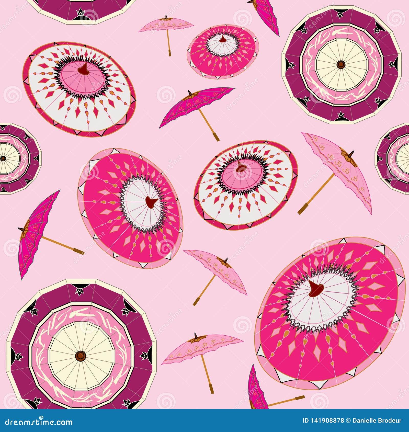 Все те розовые зонтики в ветре