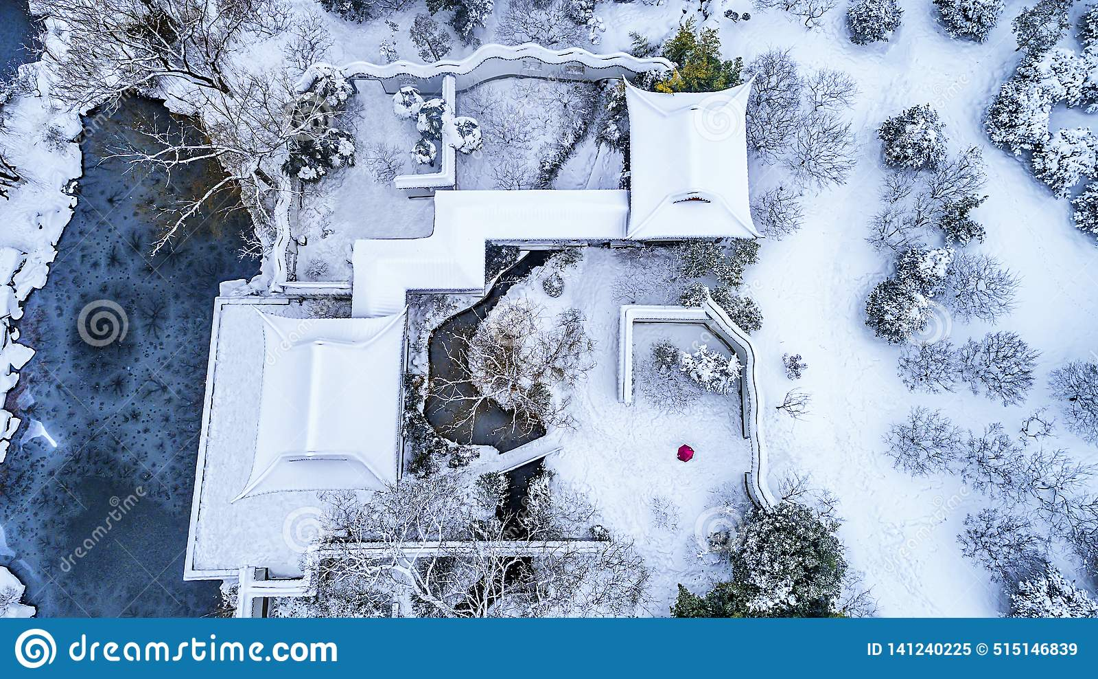Воздушное фотографирование - живописная местность мавзолея Сунь Ятсен