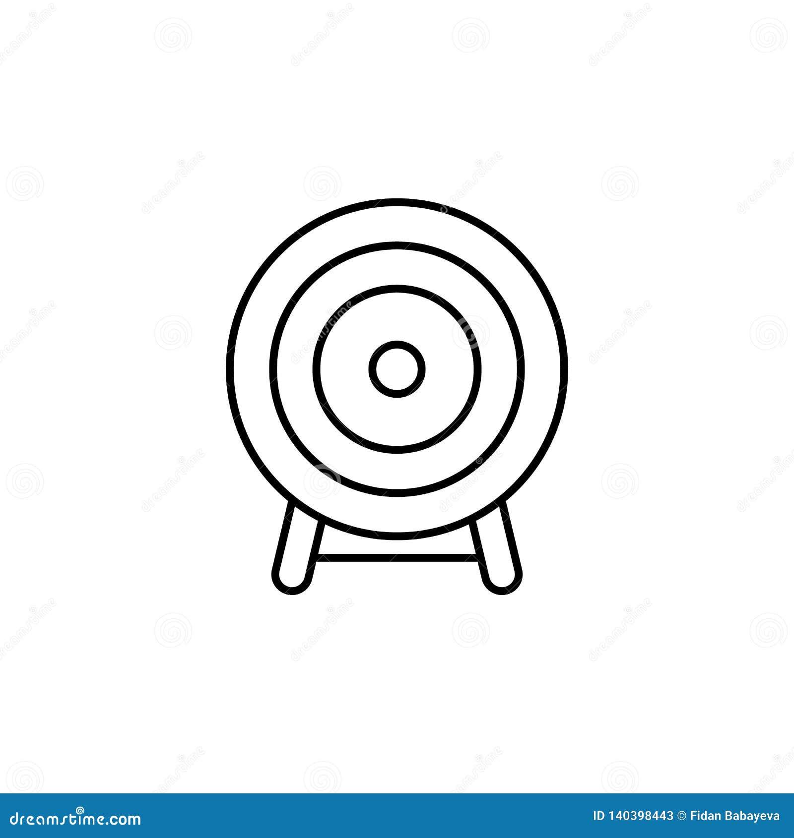 Волшебный значок плана цели Знаки и символы можно использовать для сети, логотипа, мобильного приложения, UI, UX