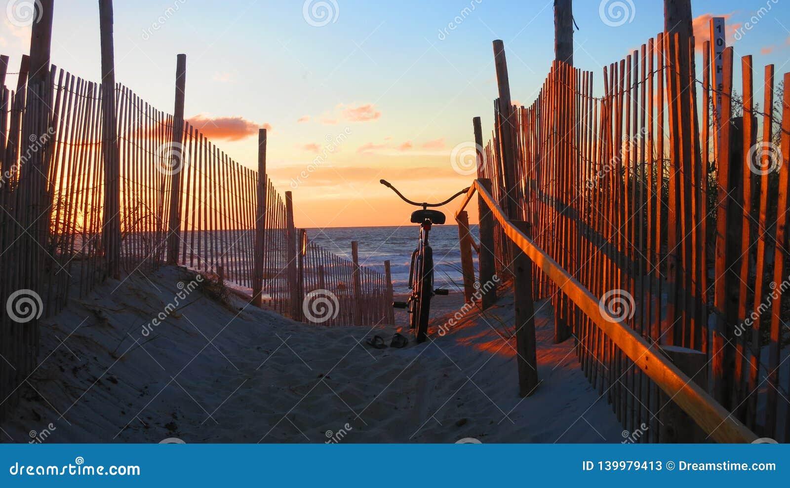 Восход солнца на острове Лонг-Бич, NJ