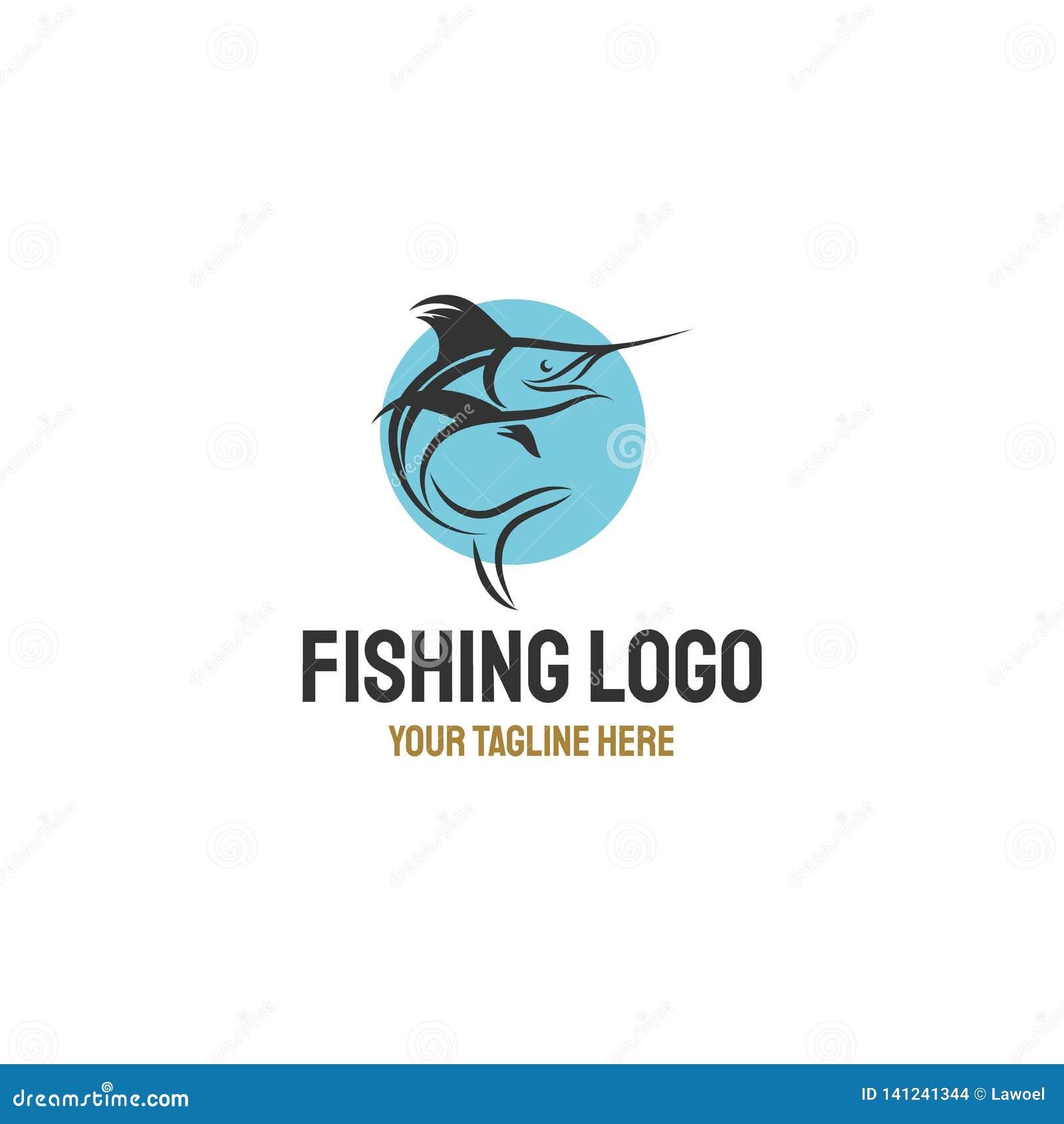 Воодушевленности дизайнов логотипа рыб Марлина