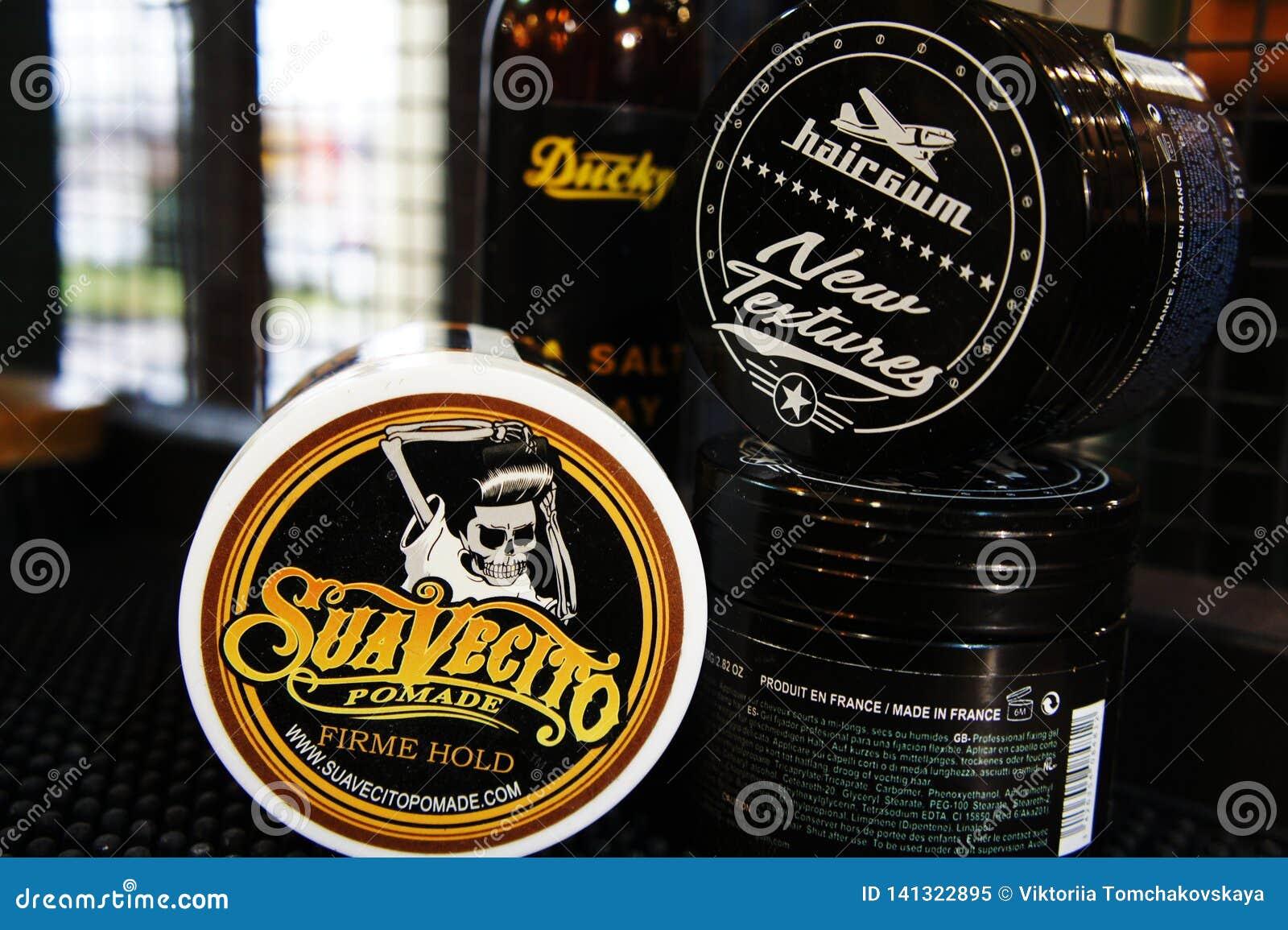 Гель для мужского дизайна - SuaVecito, hairgum, ducky владение firme pomade сильное ультрамодный дизайн парикмахерскаи