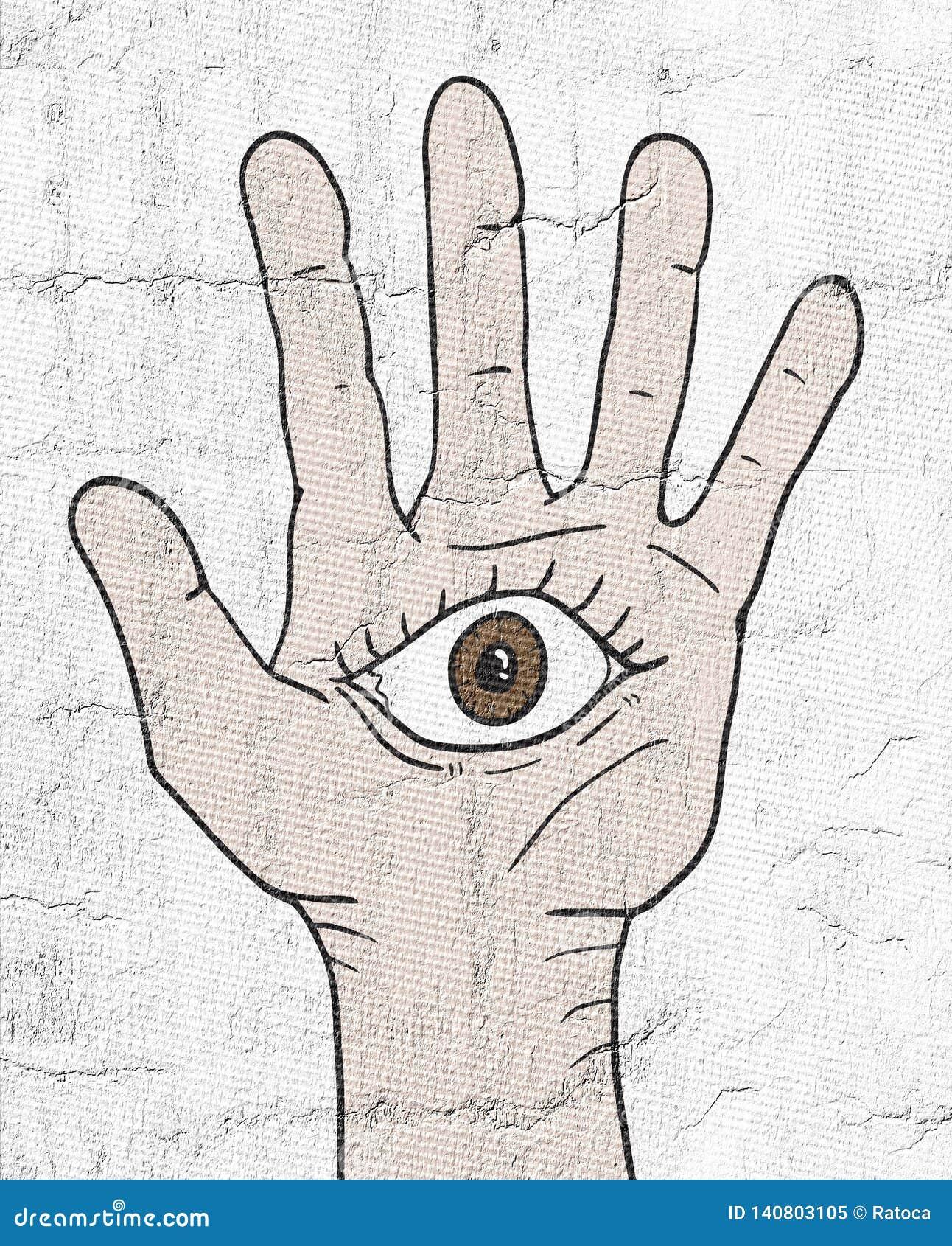 Глаз фантазии в руке