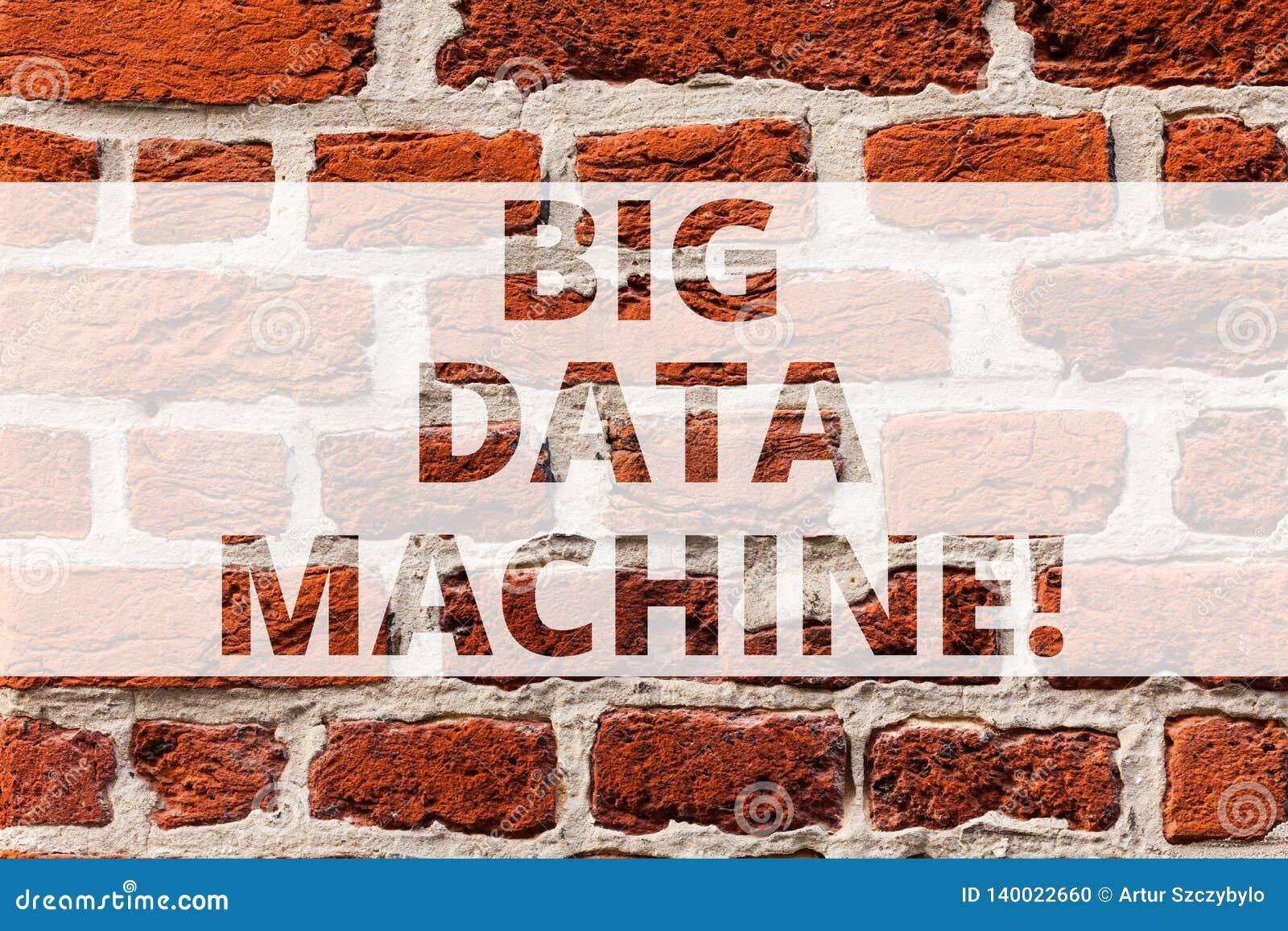 Запись примечания показывая большую машину данных Showcasing фото дела описывает любой объемистый составлять и неструктурированны