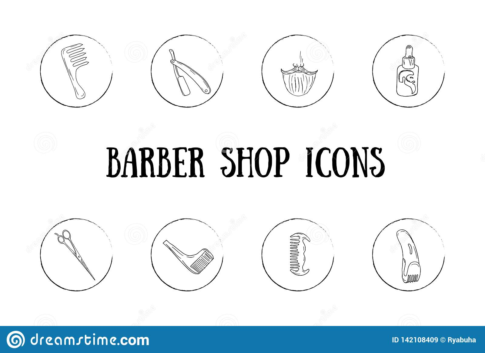 Значки парикмахера