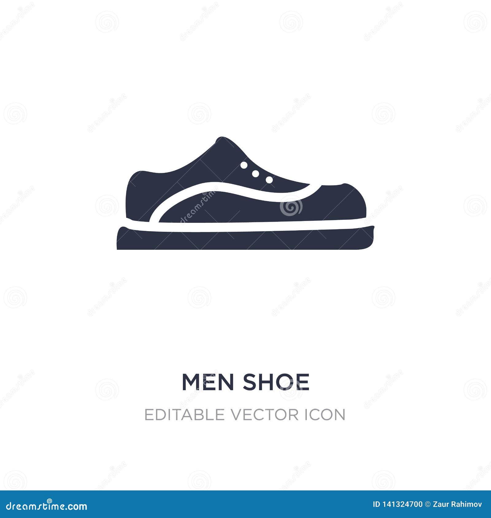 Значок ботинка людей на белой предпосылке Простая иллюстрация элемента от концепции моды