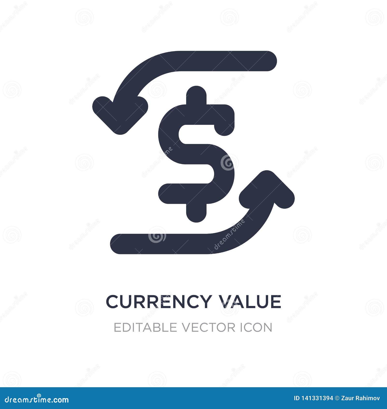 значок значения валюты на белой предпосылке Простая иллюстрация элемента от концепции знаков