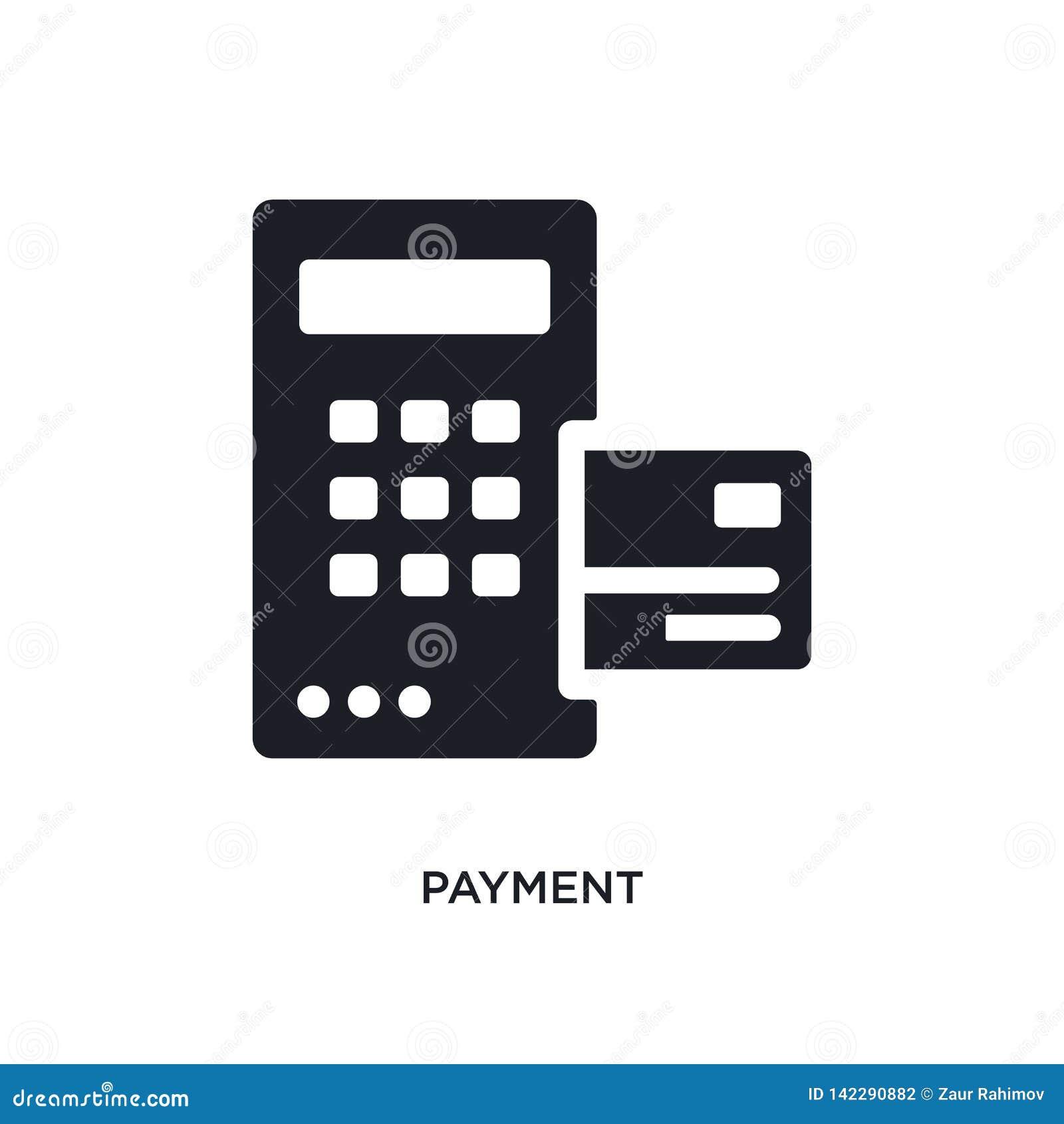 значок изолированный оплатой простая иллюстрация элемента от значков концепции дизайн символа знака логотипа оплаты editable на б