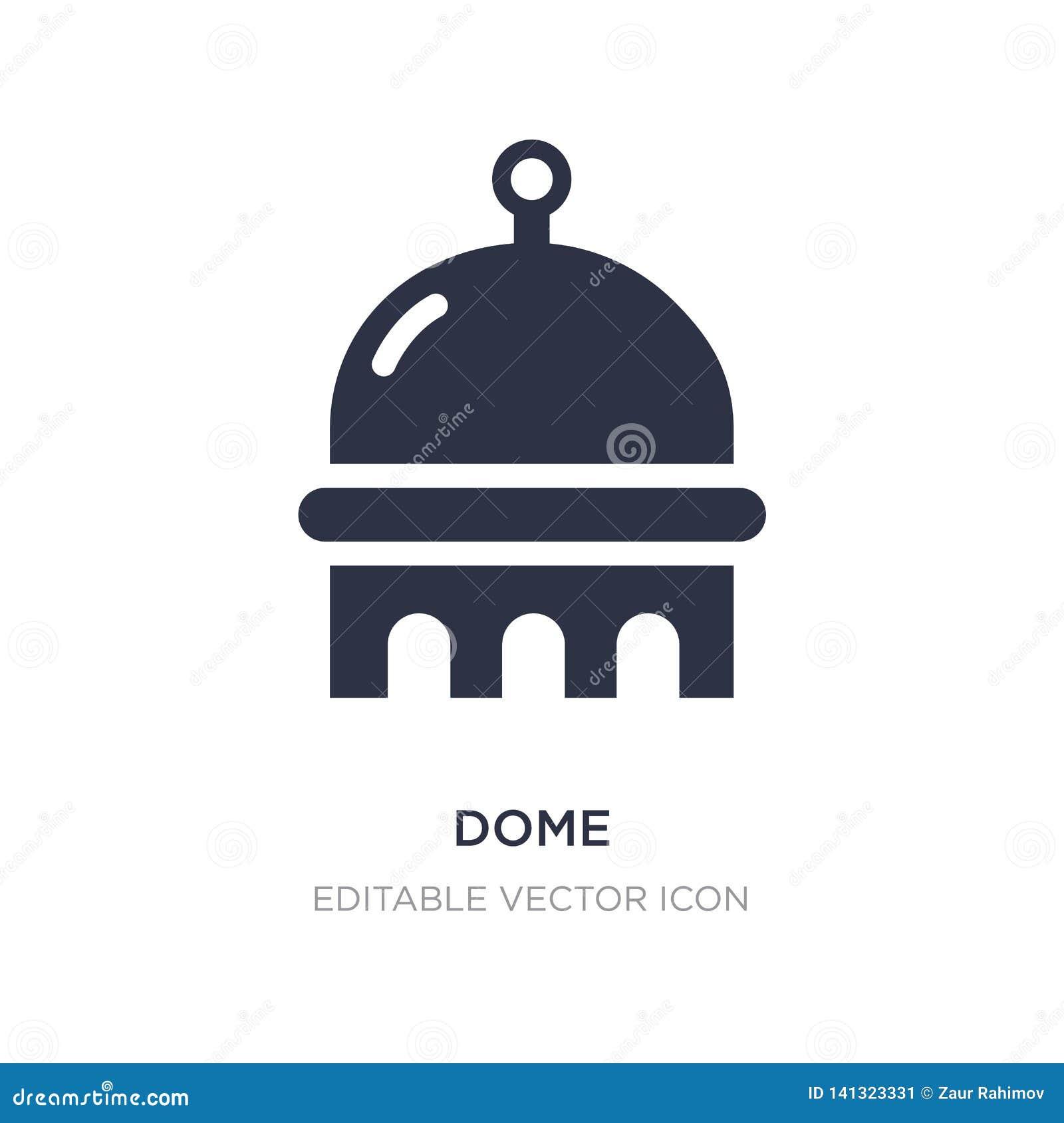 значок купола на белой предпосылке Простая иллюстрация элемента от концепции зданий
