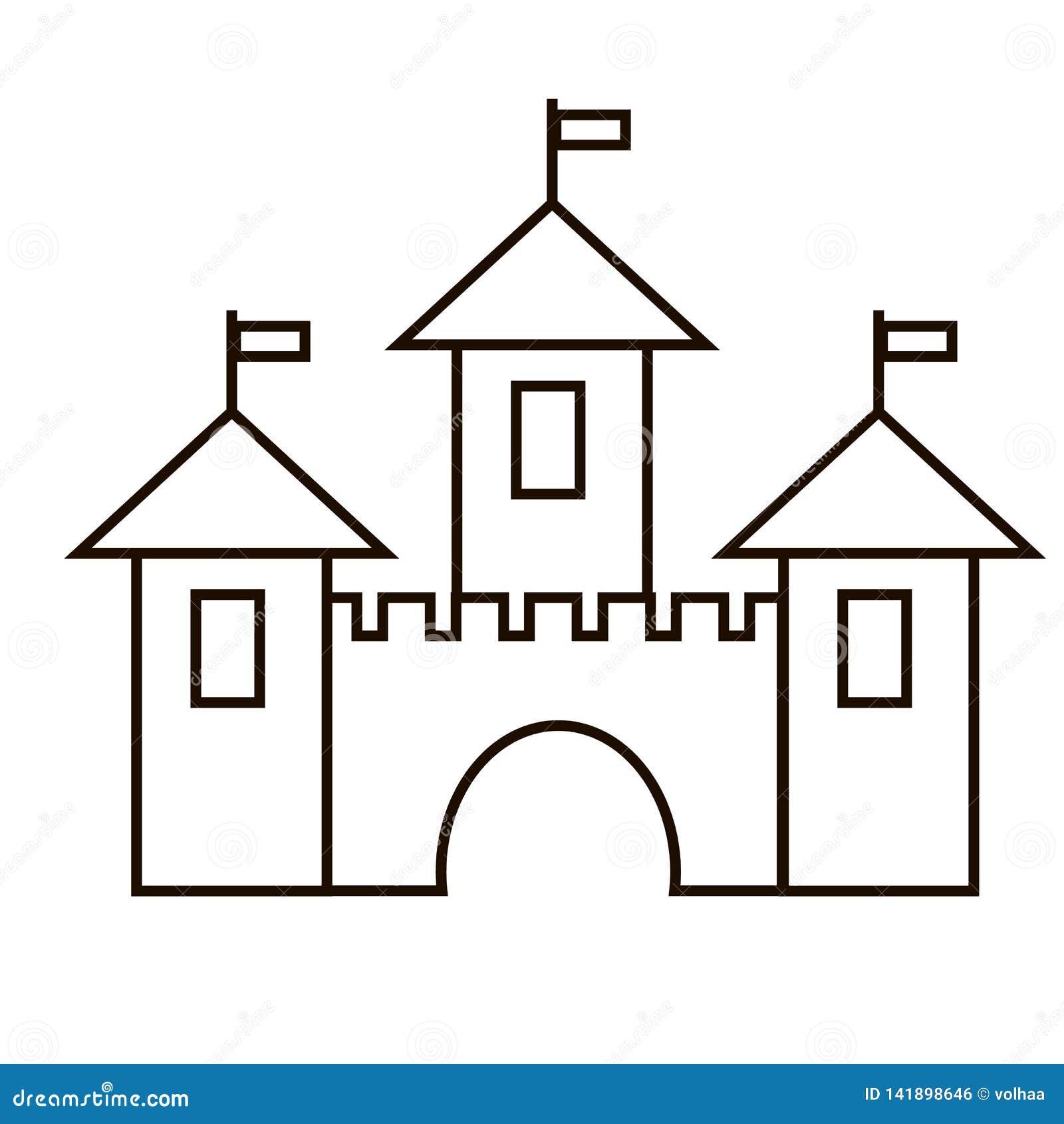 Значок крепости, средневековый замок