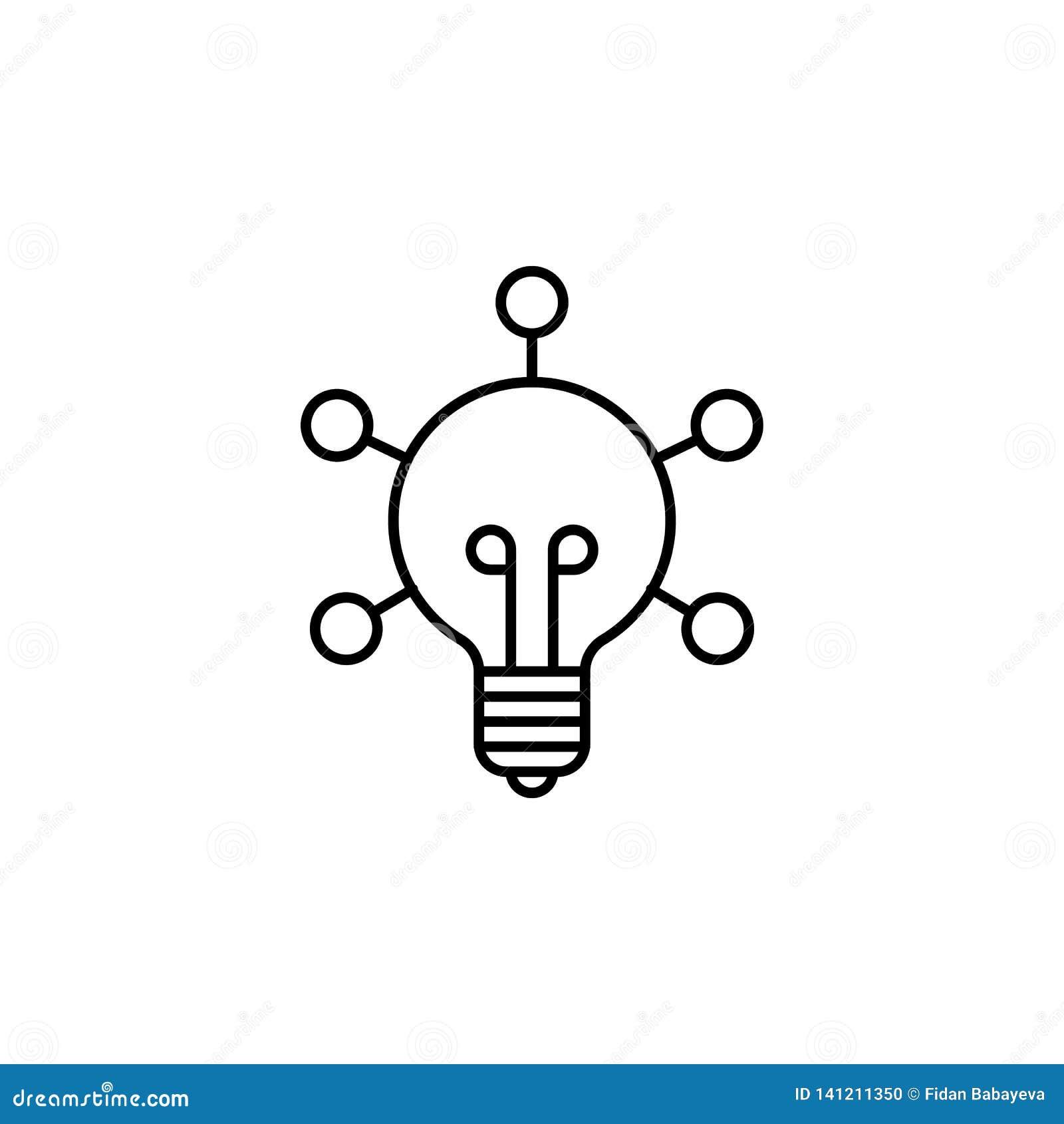 Значок плана робототехники творческий Знаки и символы можно использовать для сети, логотипа, мобильного приложения, UI, UX
