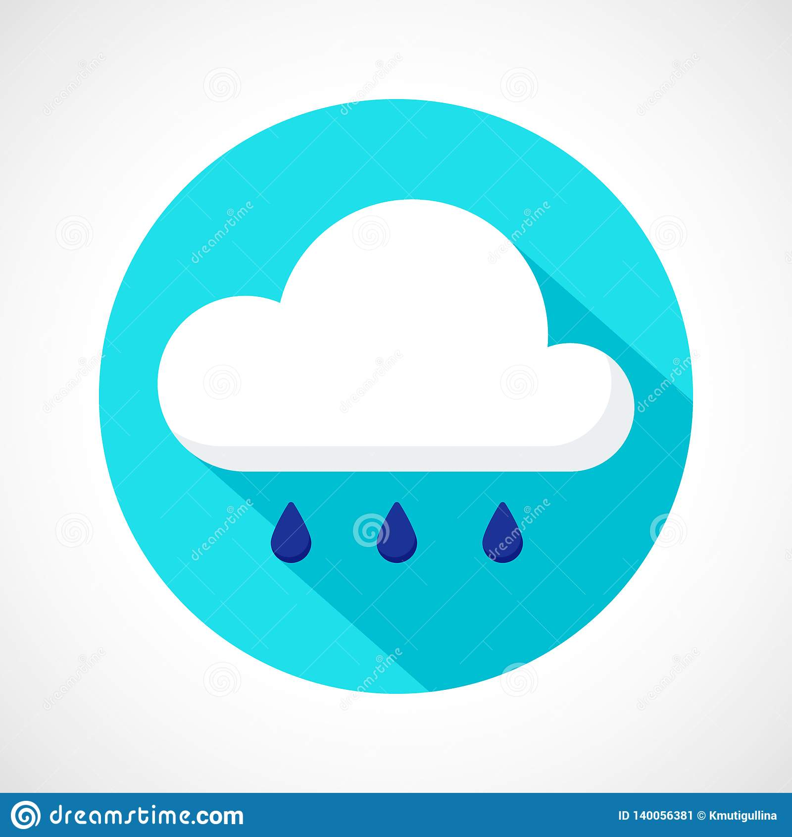 Значок дождя погоды