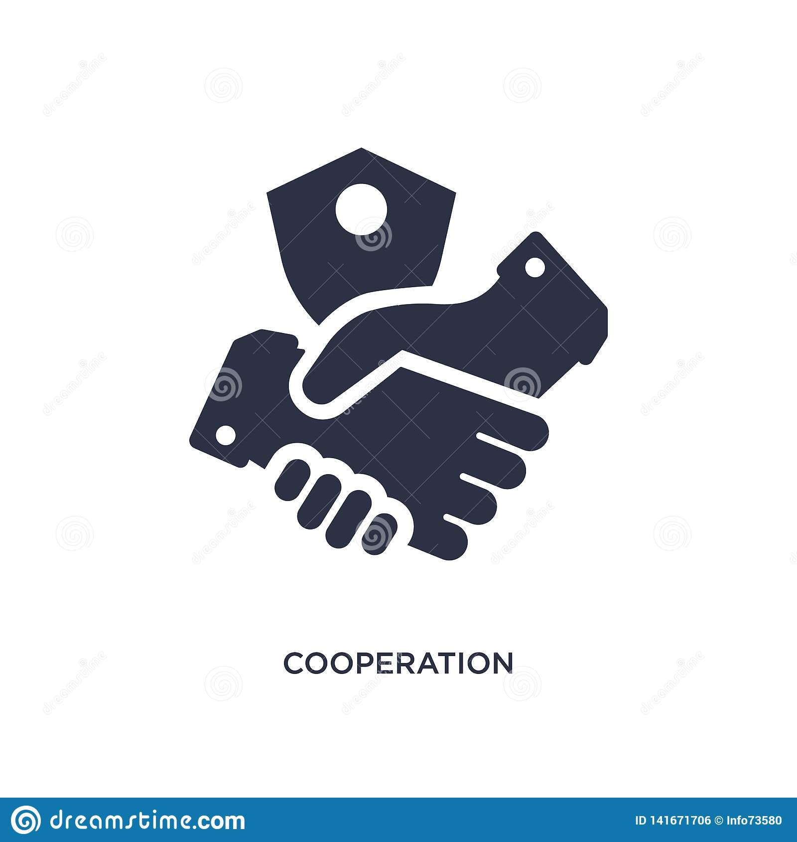 значок сотрудничества на белой предпосылке Простая иллюстрация элемента от концепции gdpr