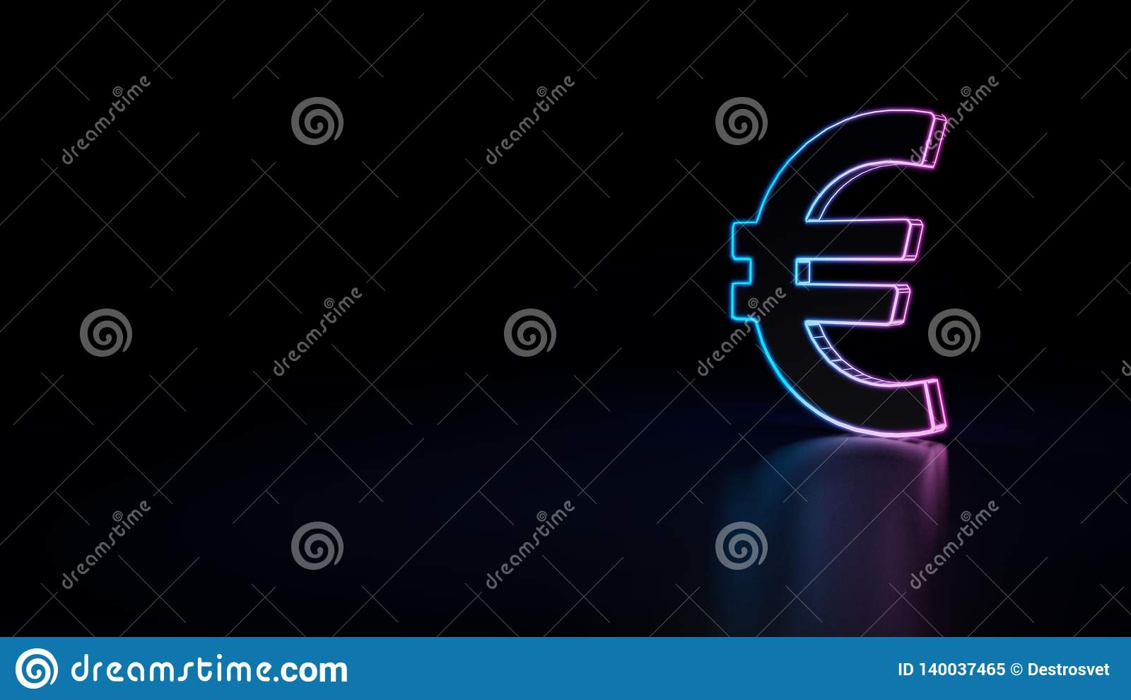 значок 3d валюты евро