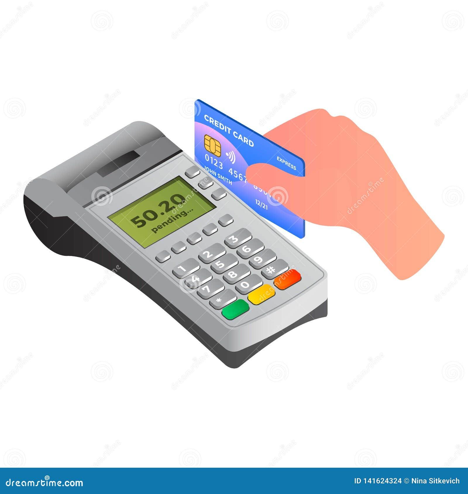 Значок оплаты контакта терминальный, равновеликий стиль
