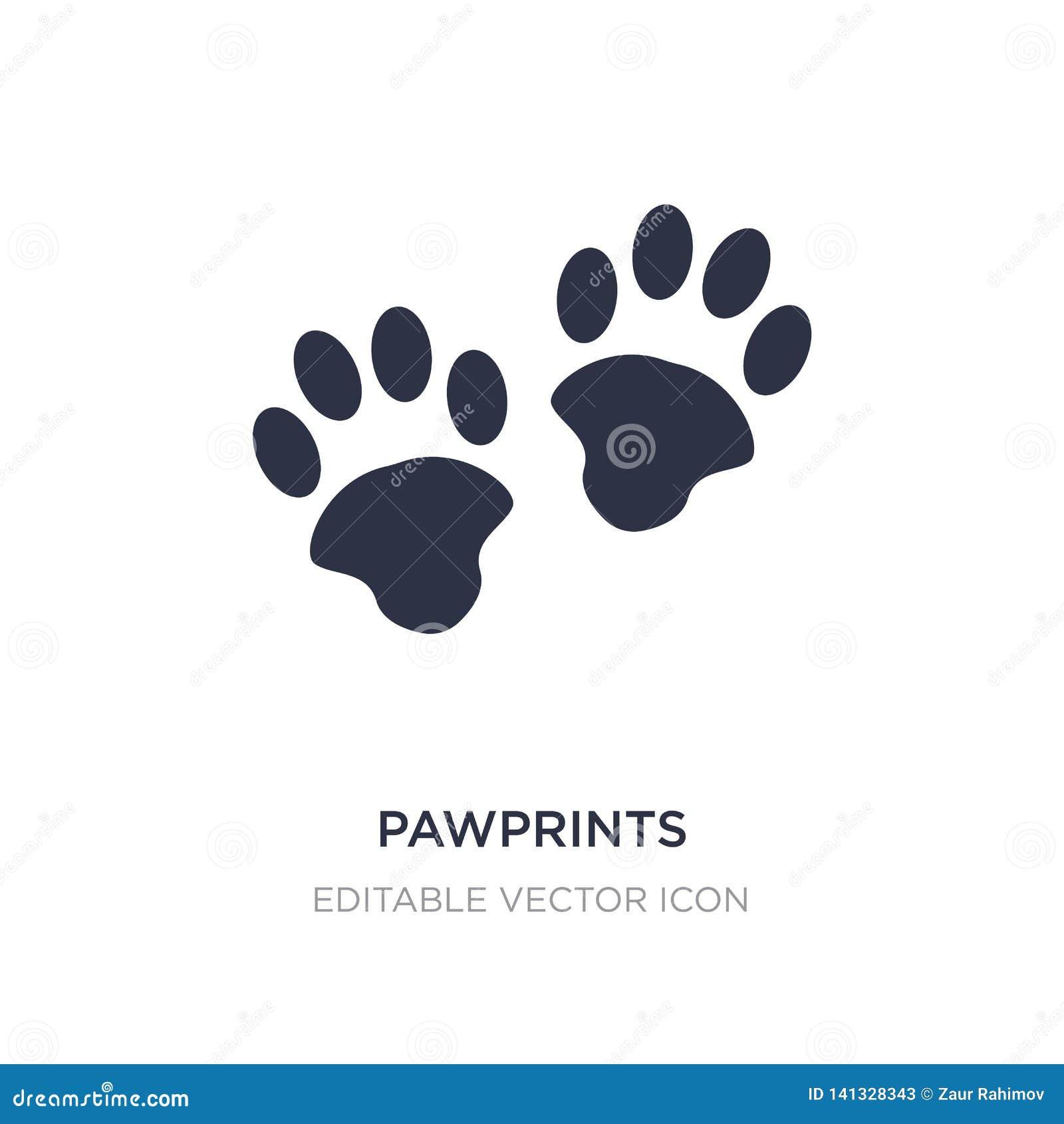значок pawprints на белой предпосылке Простая иллюстрация элемента от концепции животных