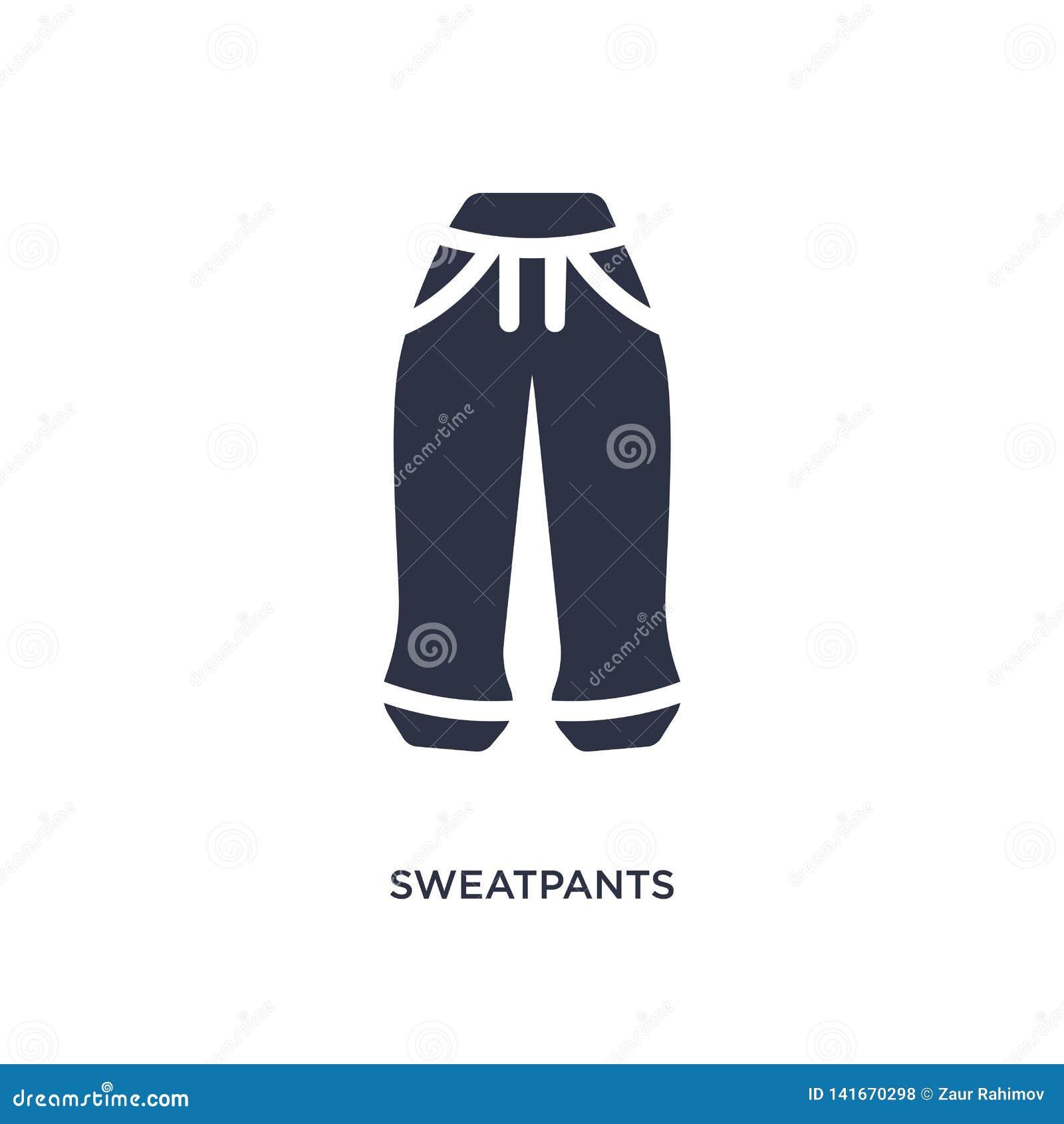 значок sweatpants на белой предпосылке Простая иллюстрация элемента от концепции одежд