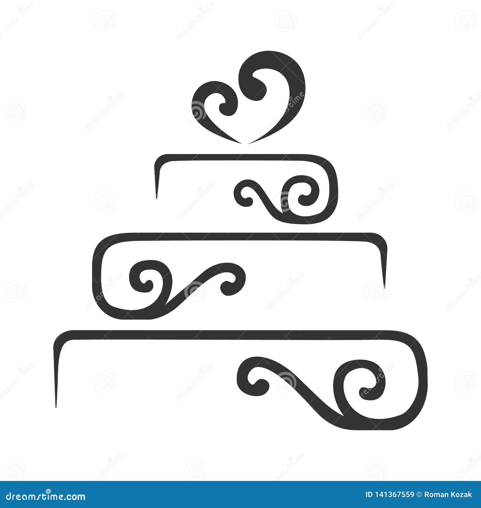 Иллюстрация вектора логотипа торта