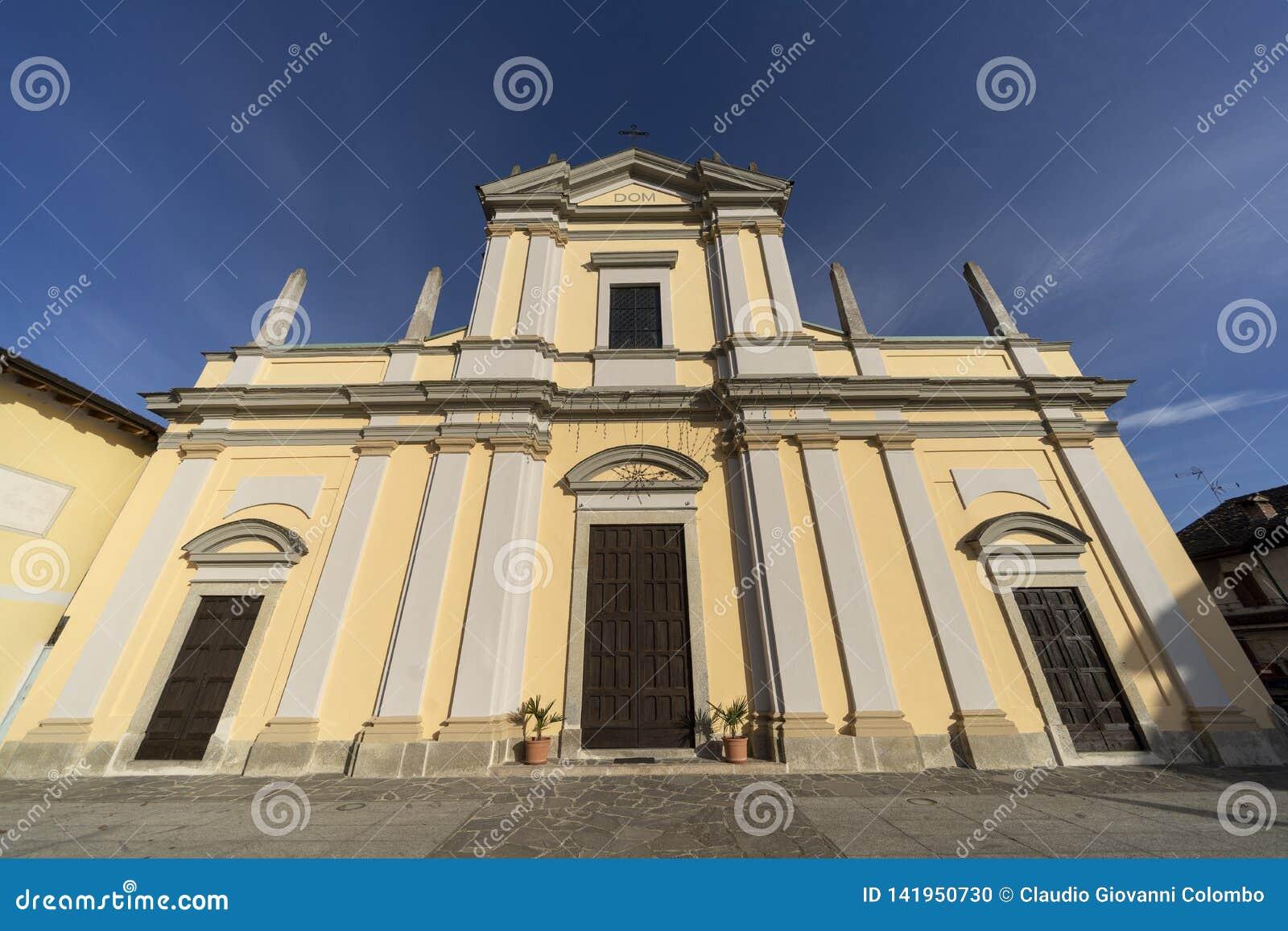 Историческая церковь Casaletto Lodigiano, Италии