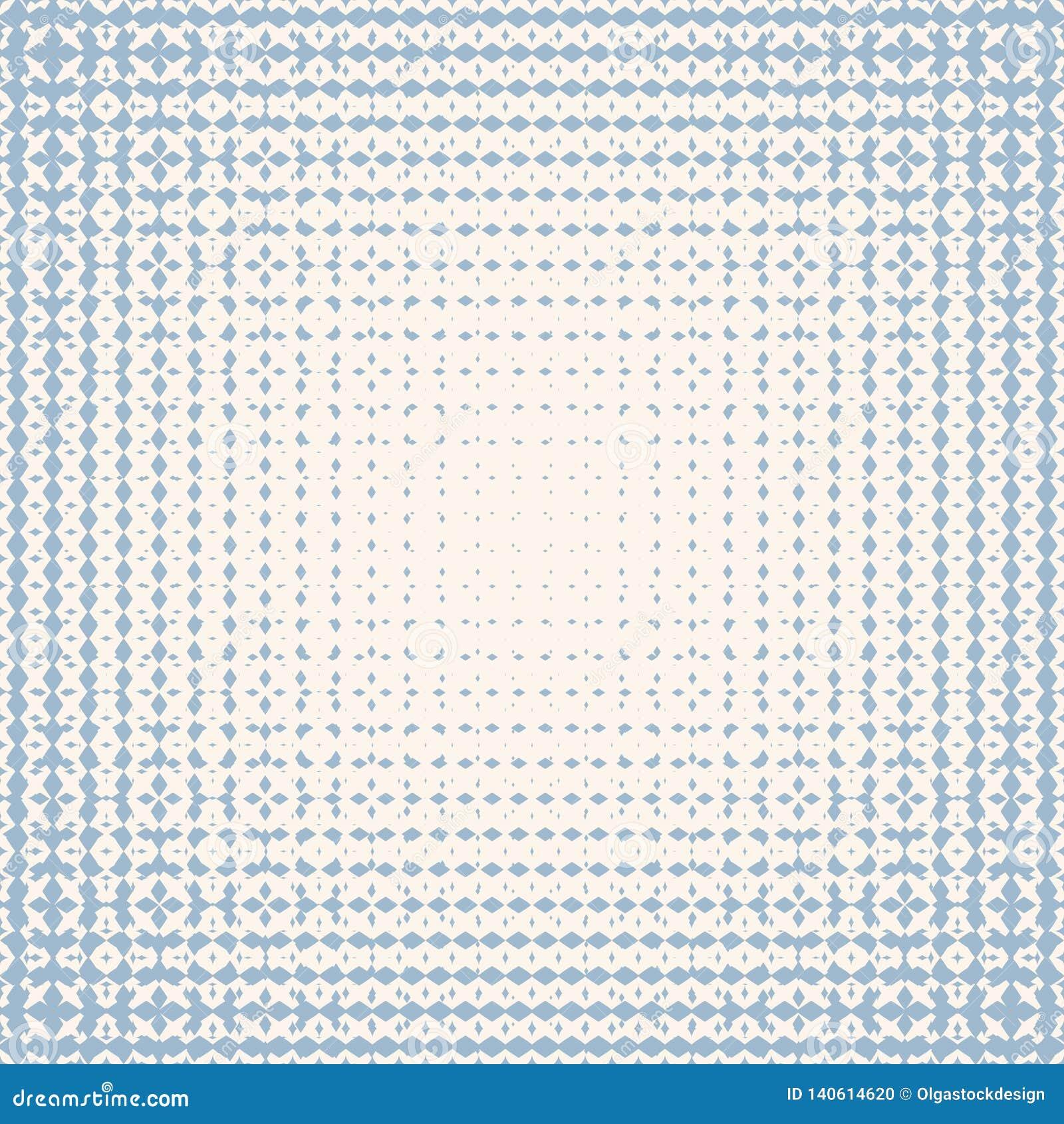 Картина радиального полутонового изображения вектора безшовная Мягкая голубая и белая текстура пульсации