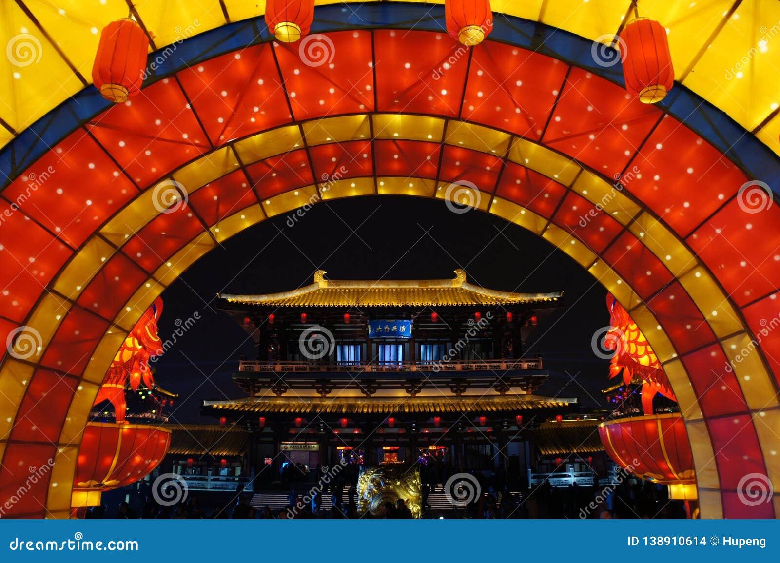 2019 китайских Новых Годов в Xian