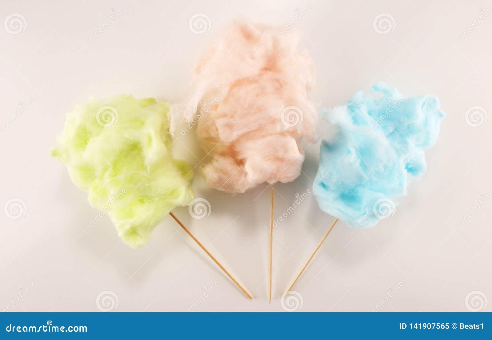 Красочная зубочистка конфеты хлопка сладкие еда партии в пинке и зеленый