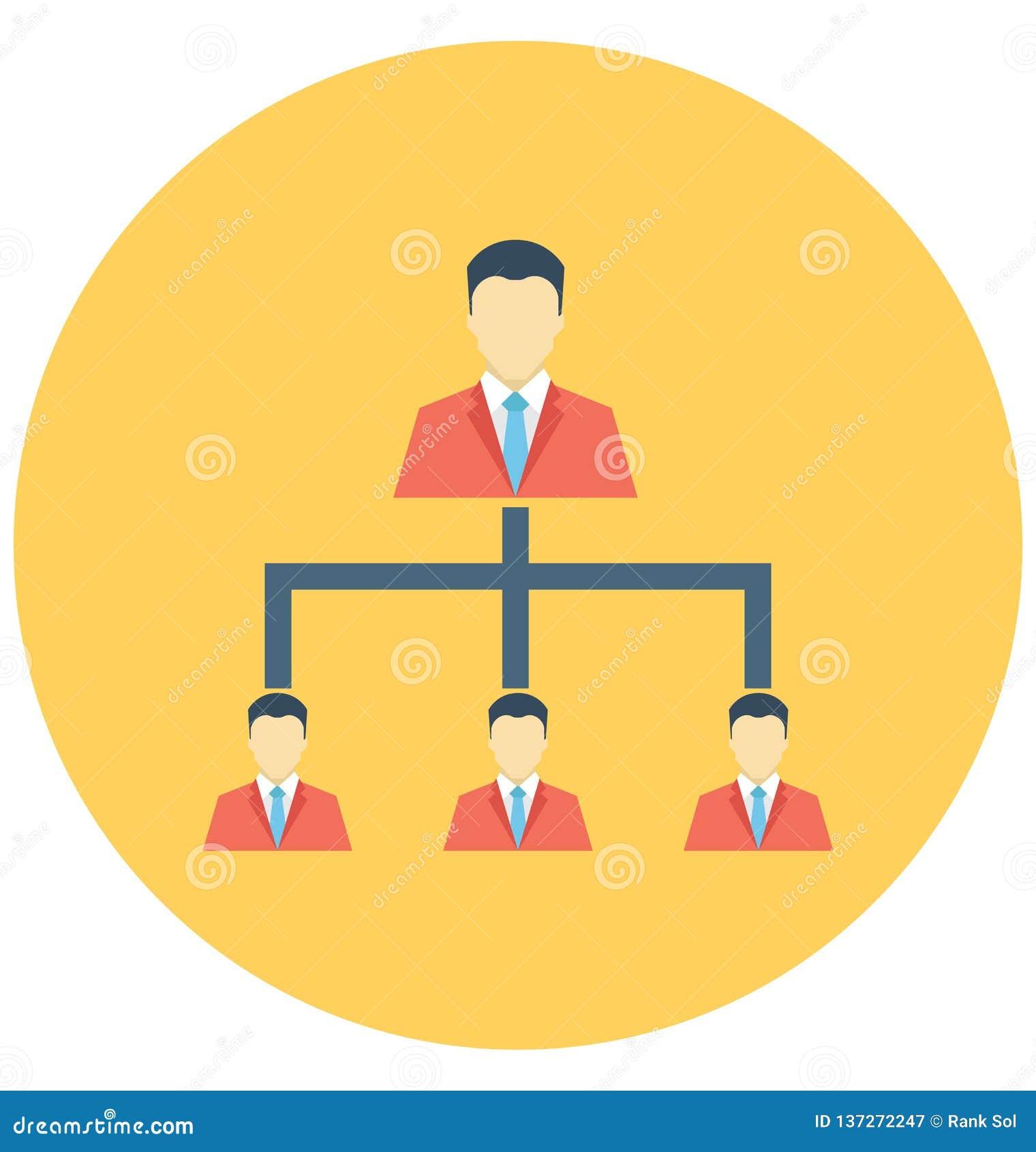 Команда Команды Иерархии, Компании изолировала значок вектора который можно легко доработать или редактировать