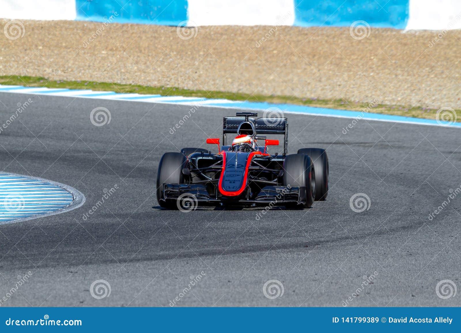 Команда McLaren Honda F1, кнопка Jenson, 2015