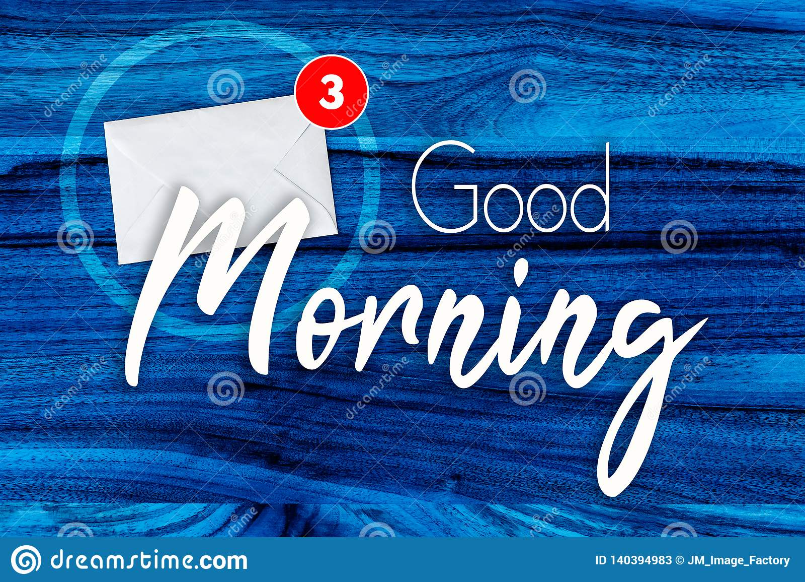 Концепция доброго утра в сини