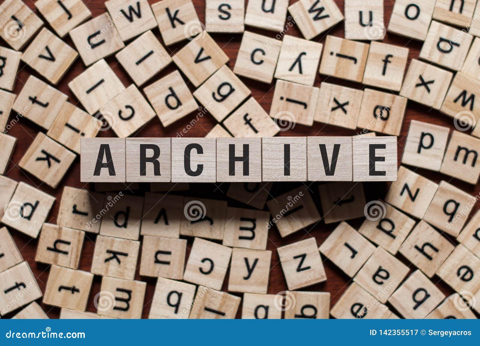 Концепция слова архива