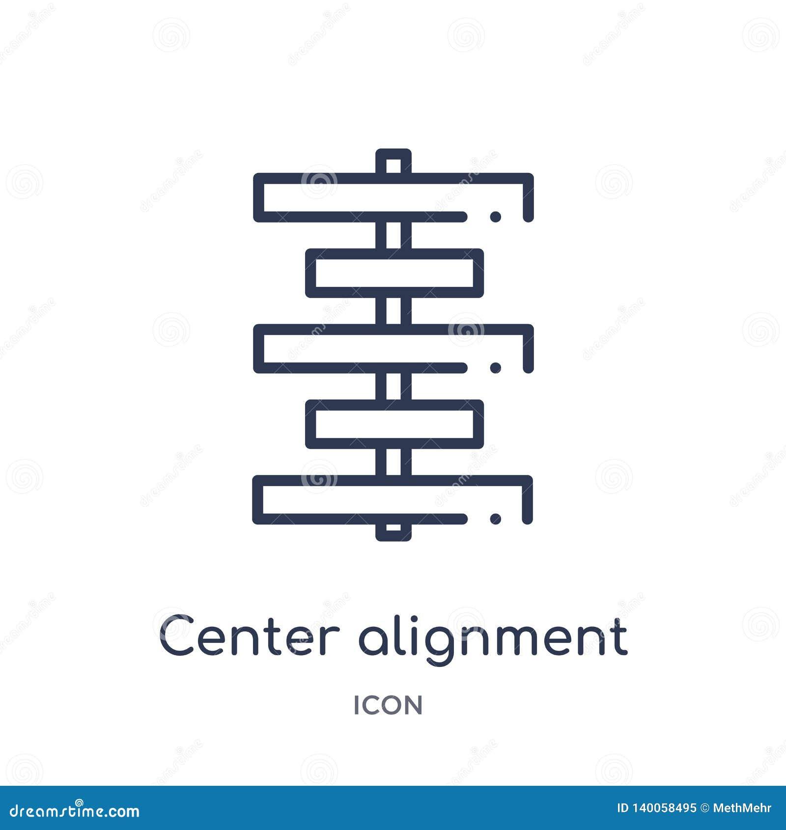 Линейный разбивочный значок выравнивания от геометрической диаграммы собрания плана Тонкая линия разбивочный значок выравнивания