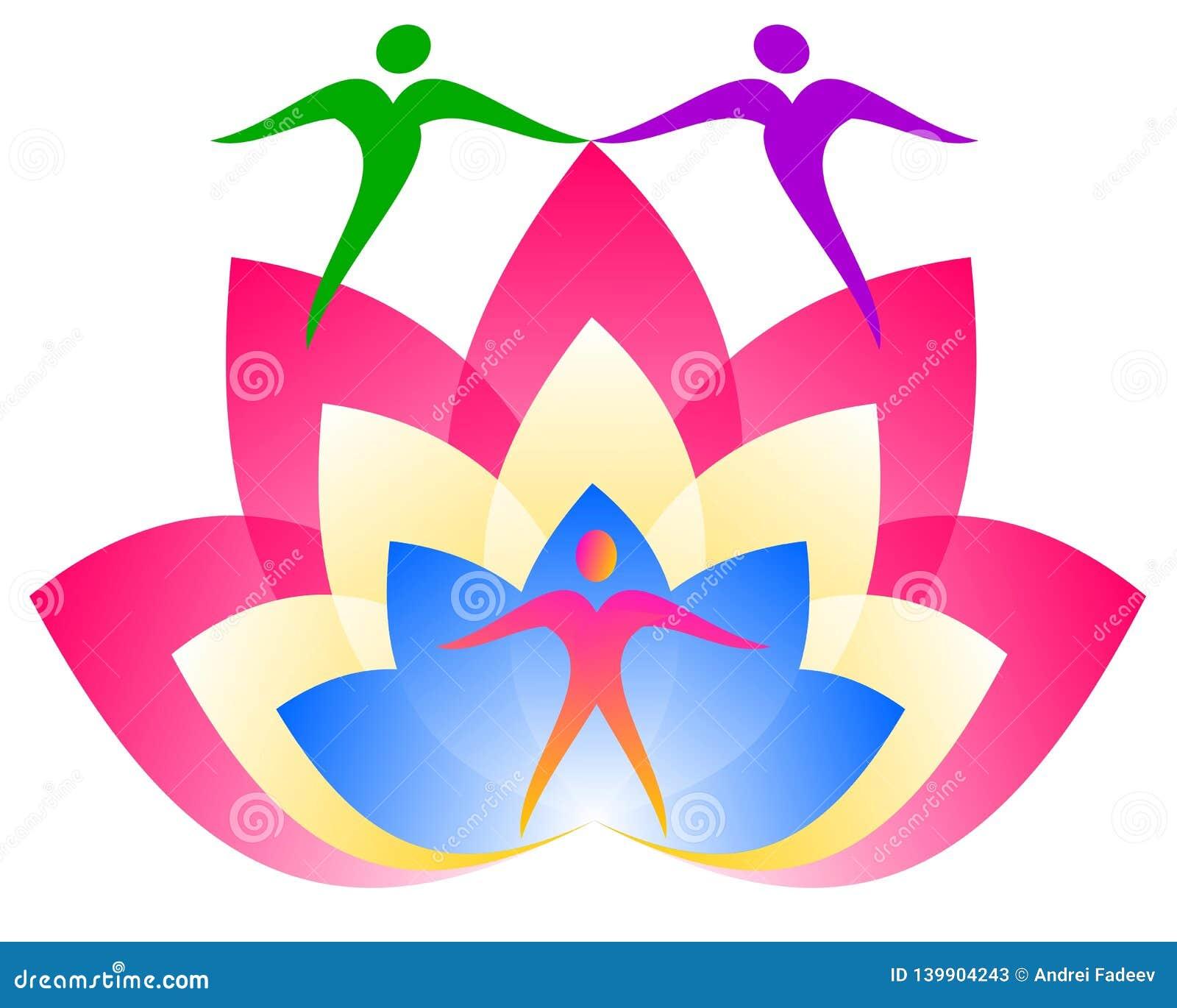 Логотип лотоса Цветок человека