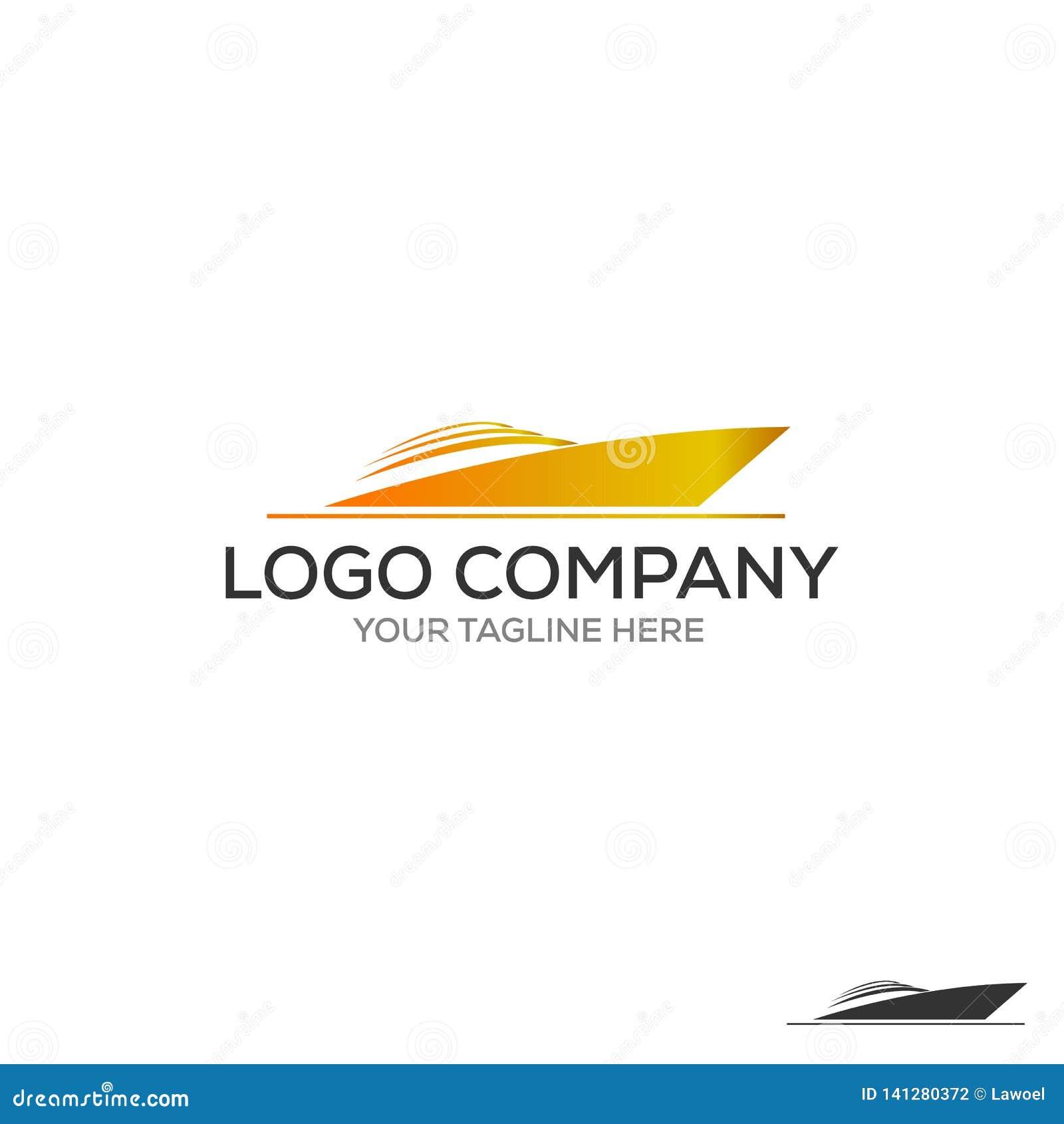 Логотип яхты Простая иллюстрация значка вектора яхты для сети