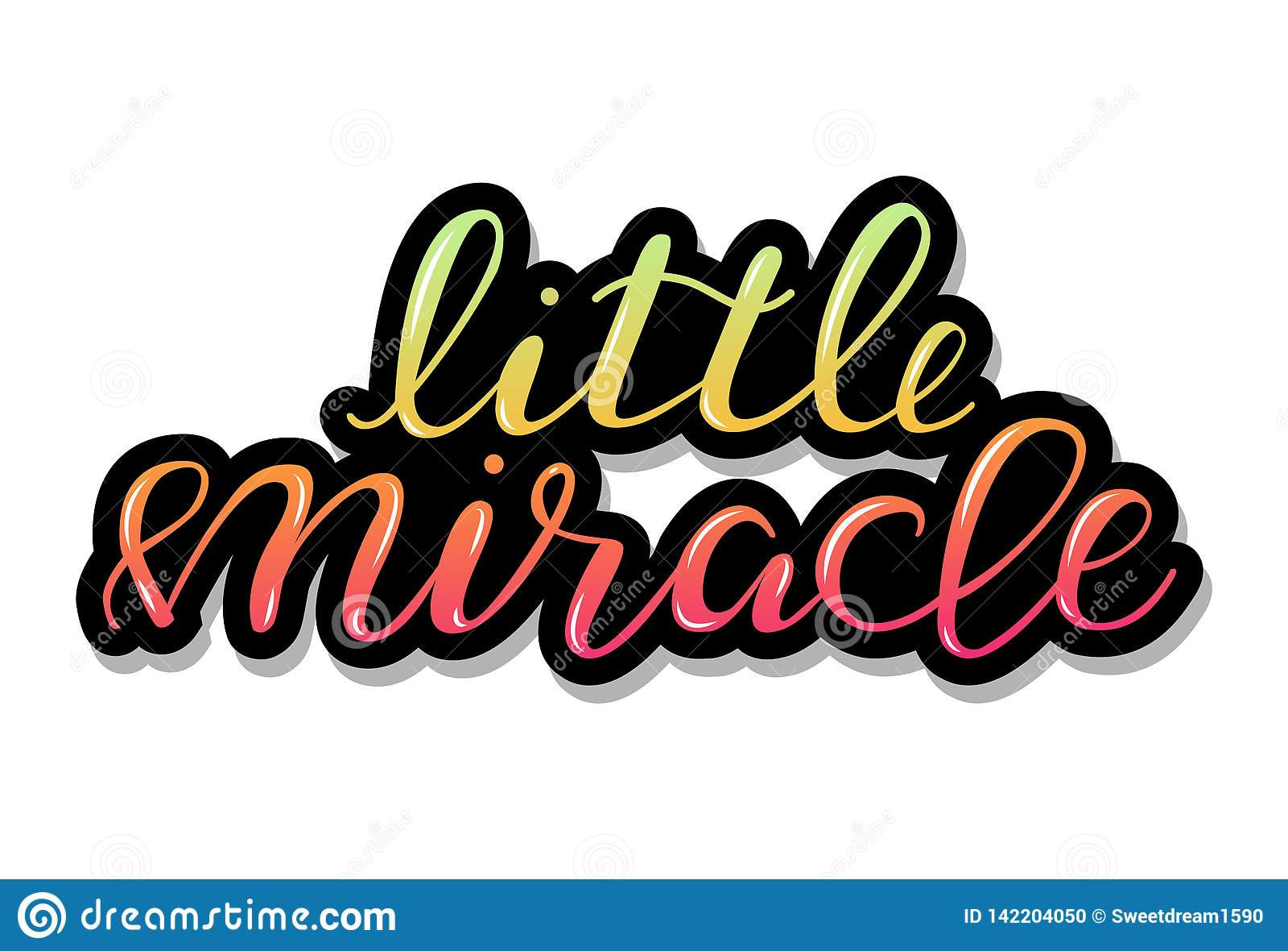Меньшее чудо, младенец помечая буквами цитату