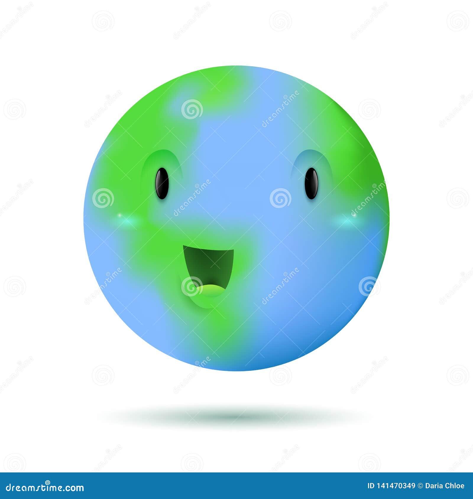 Милый смешной характер планеты земли
