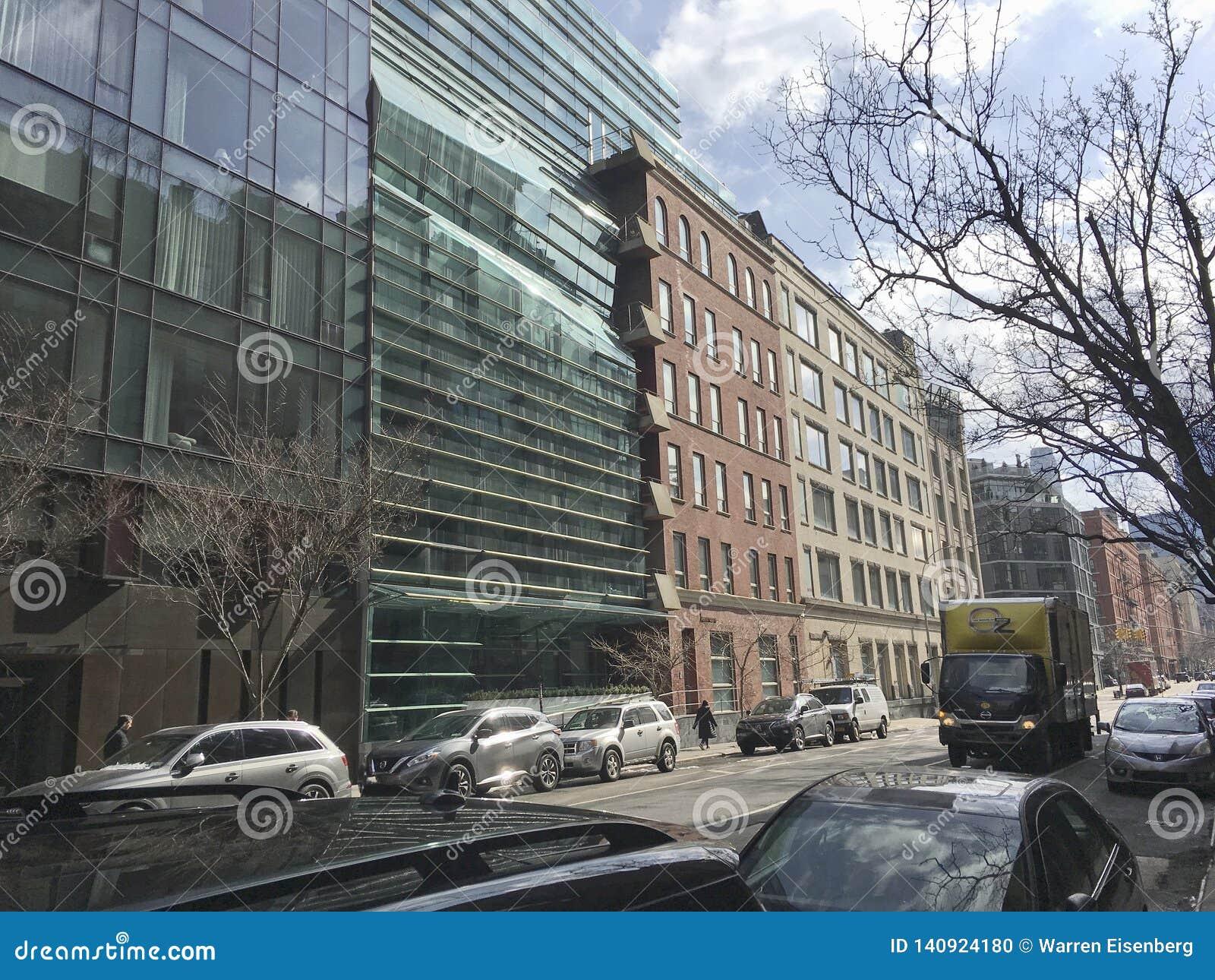 Новый взгляд около Гринвич и улицы весны в NYC