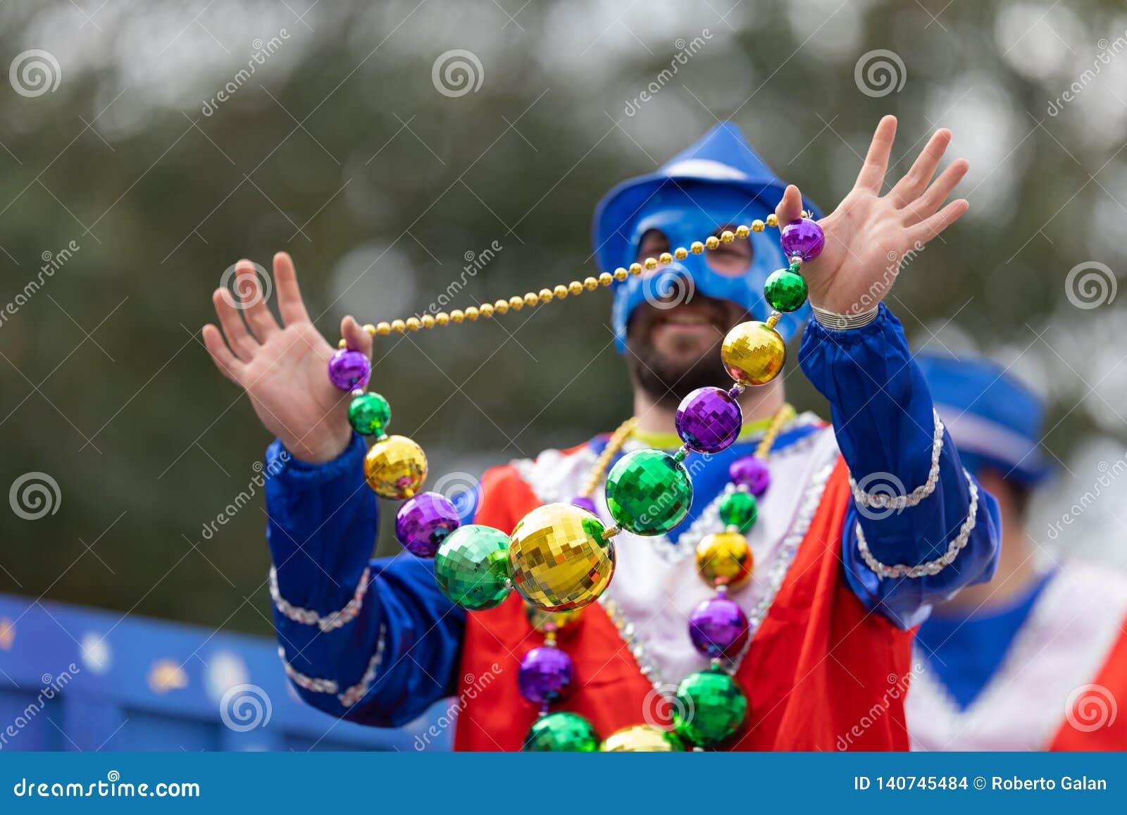 Парад Новый Орлеан марди Гра