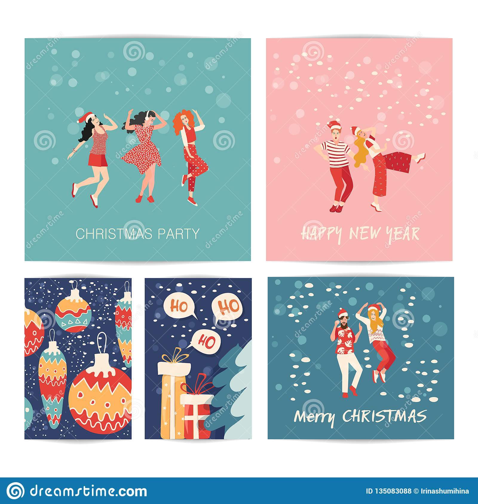 Christmas Carnival Poster.Vector Illustration New Year Party Carnival Festival