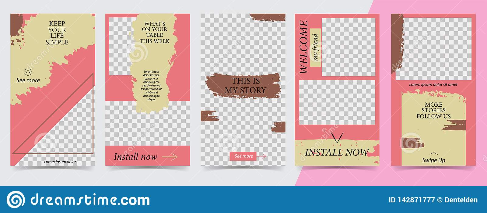 Trendy editable template for social networks stories,instagram stories,vector illustration. Design backgrounds for social media